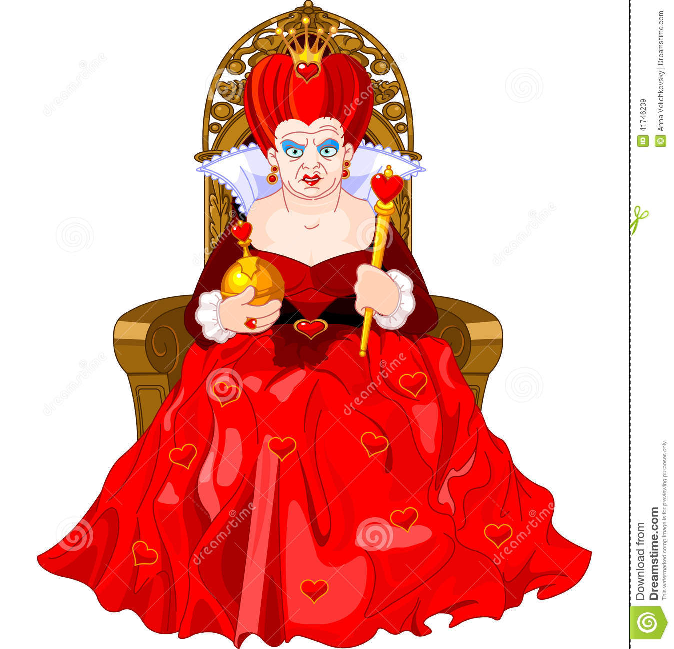 Angry Queen On Throne Stock Vector - Image: 41746239