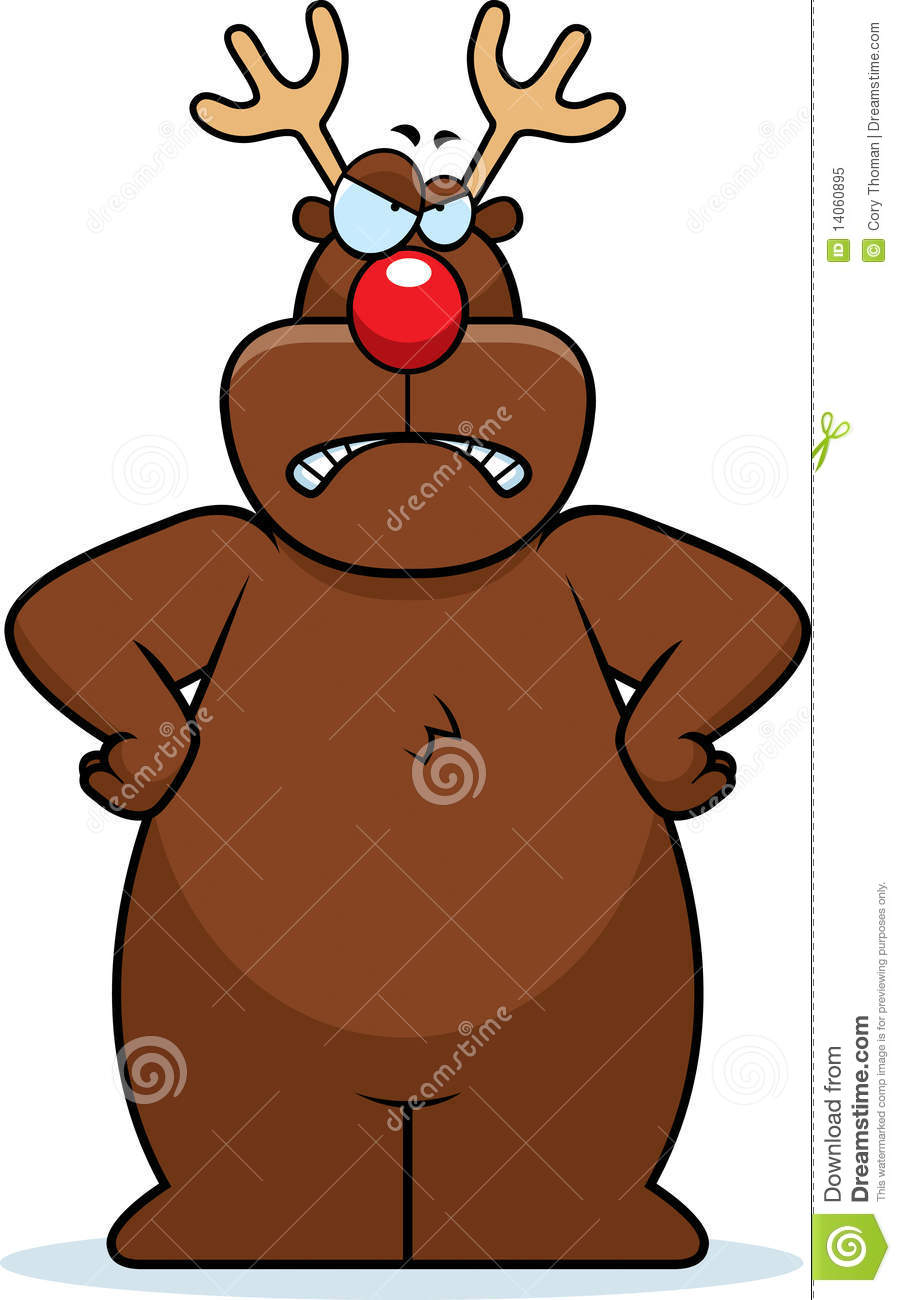 Angry Reindeer Royalty Free Stock Photo - Image: 14060895