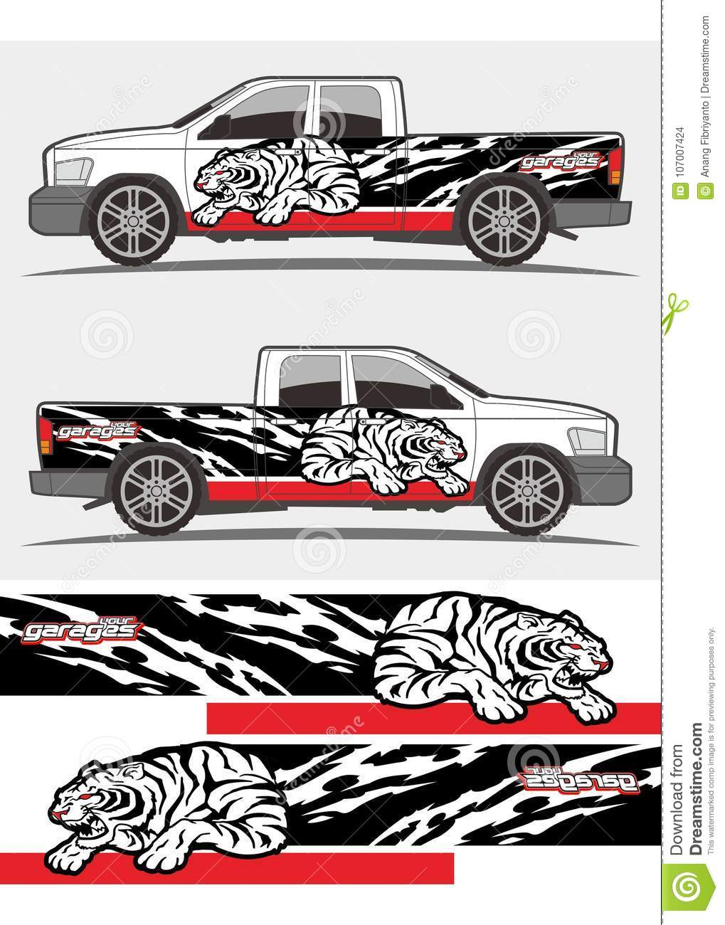 61f23c65169d41 Professional graphics design decal kits for van vehicle and truck Truck and vehicle  decal Graphics Kits design. tribal graphics kits for truck and other ...