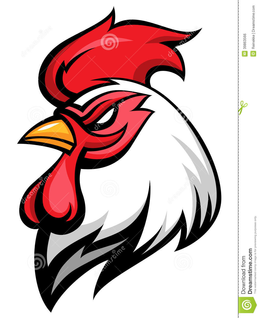 Angry Rooster Stock Vector Illustration Of Attack School