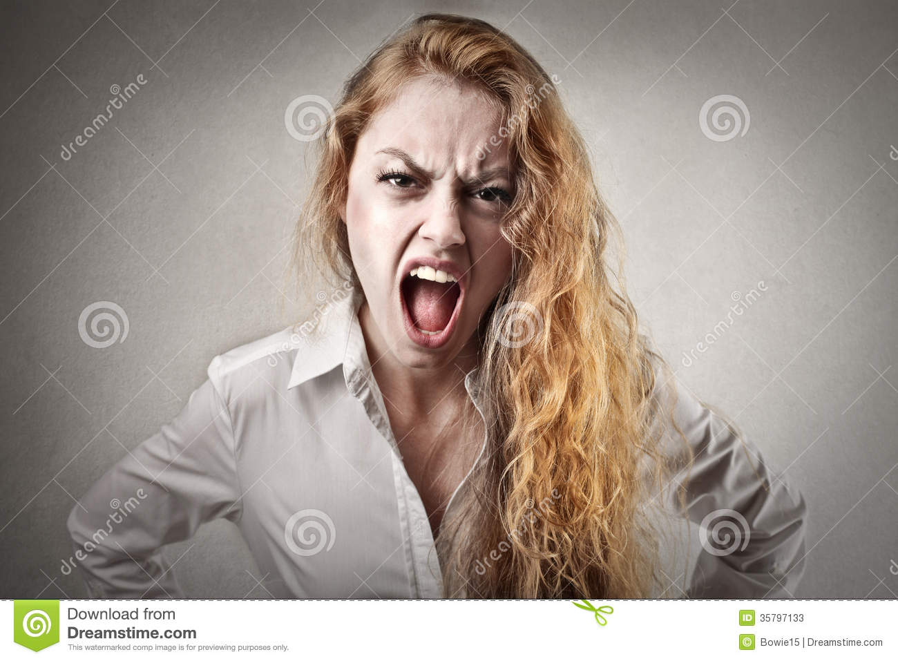 Angry screaming woman stock image. Image of caucasian ...