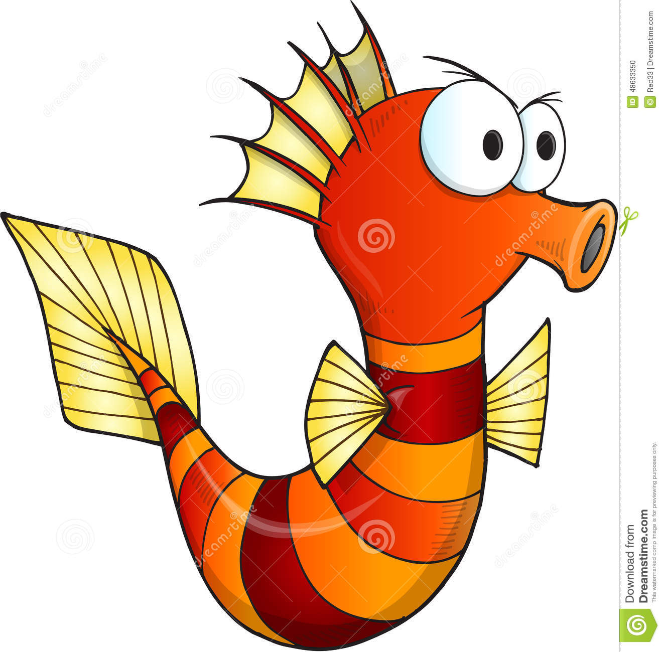 Angry Sea Horse Vector Stock Vector - Image: 48633350