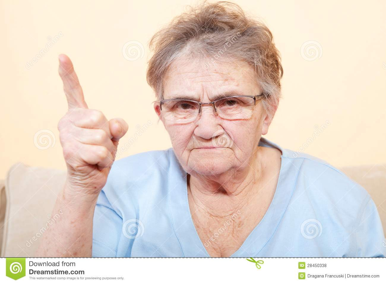 Angry Senior Woman Royalty Free Stock Photos - Image: 28450338