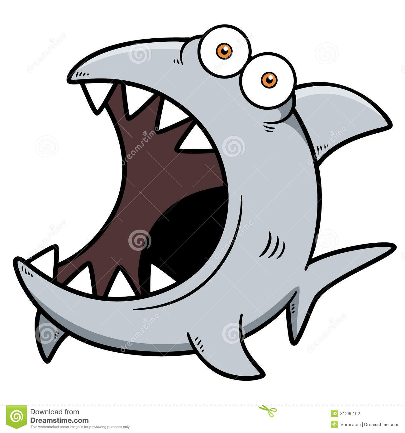 Angry shark clipart - photo#13