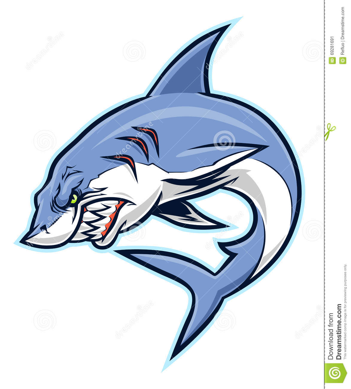Angry shark clipart - photo#2