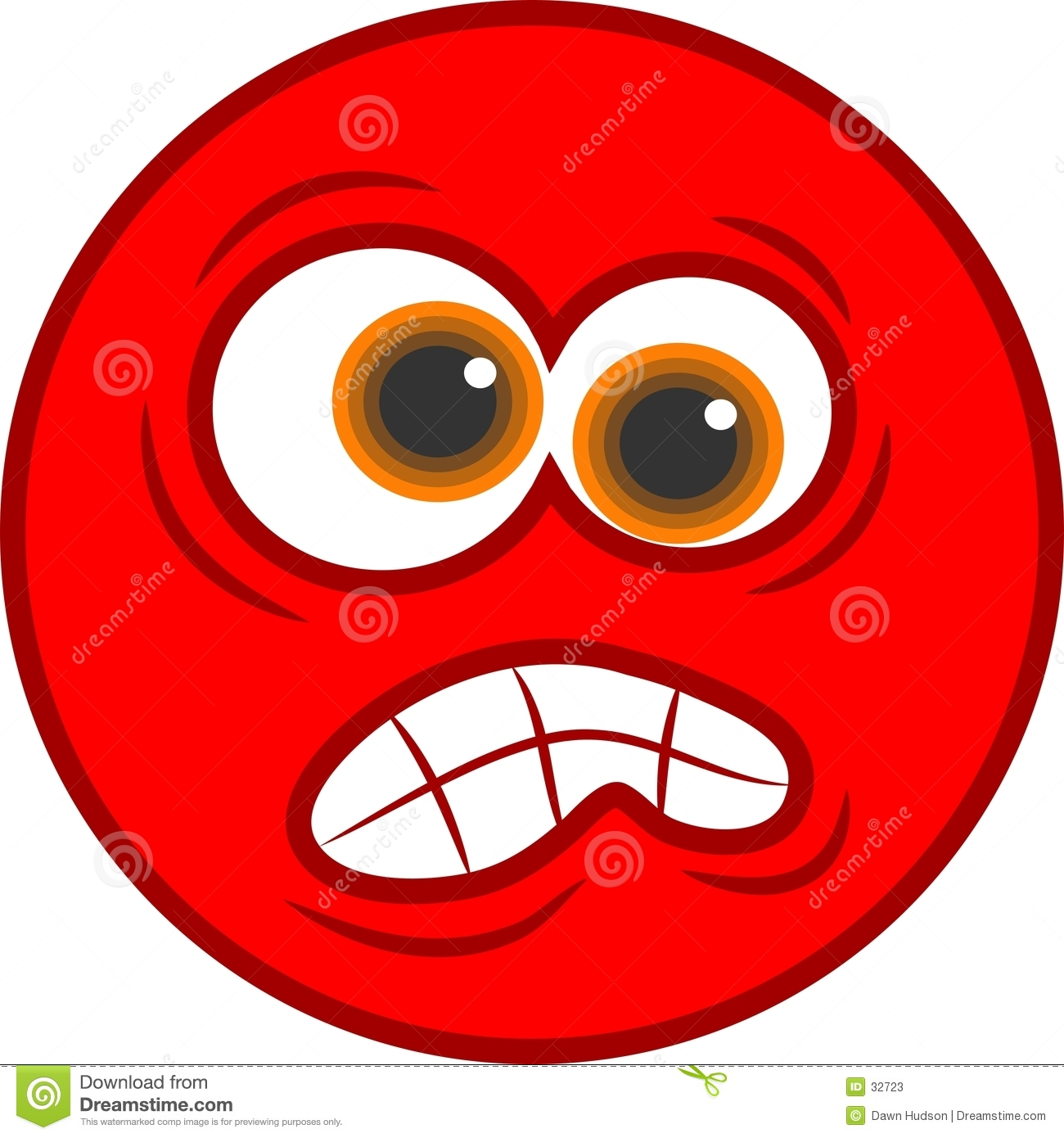 angry smiley icon stock vector. illustration of unhappy - 32723