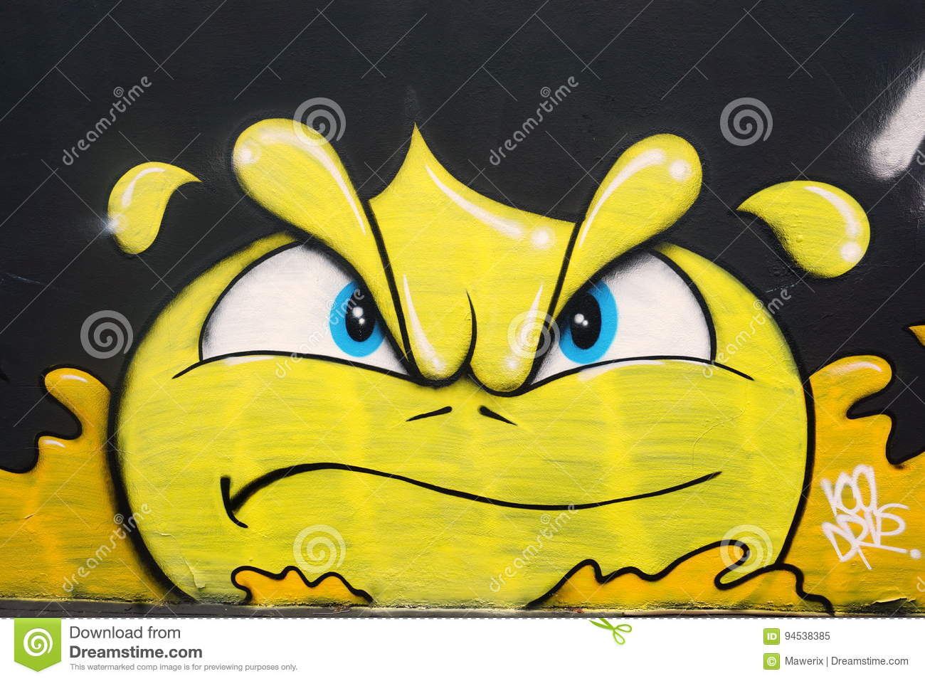 Angry smiley editorial image. Image of white, arts, wynwood - 94538385