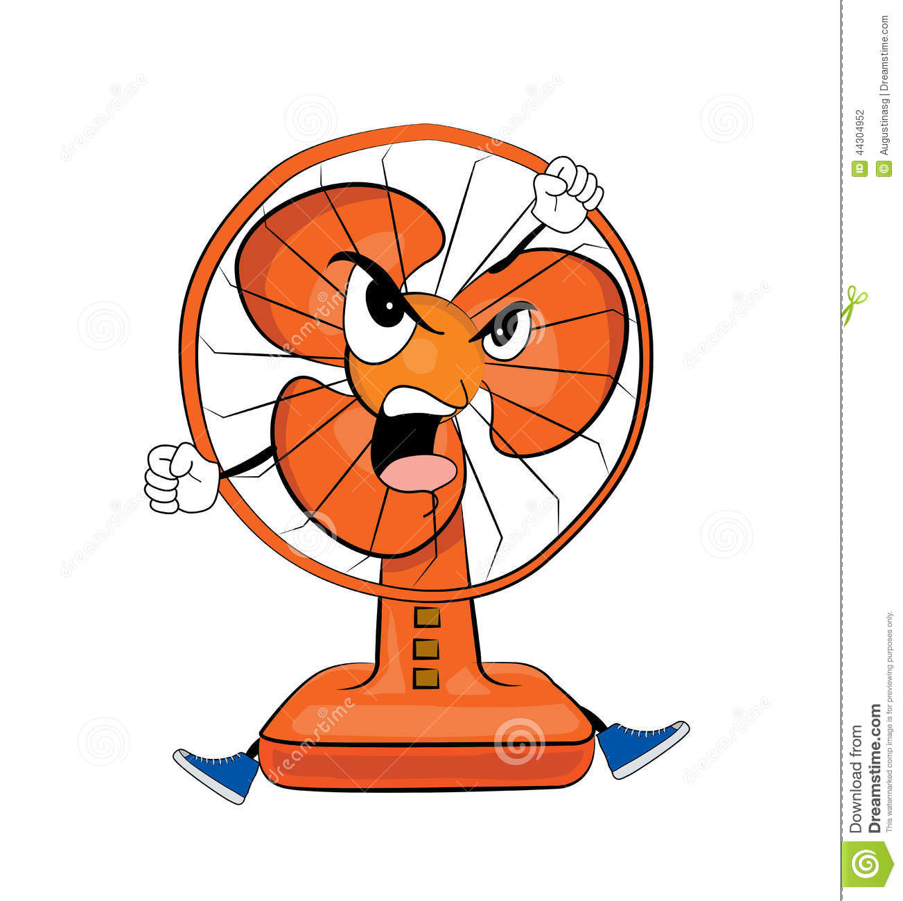 Cartoon Table Fans : Angry table fan cartoon stock illustration image of