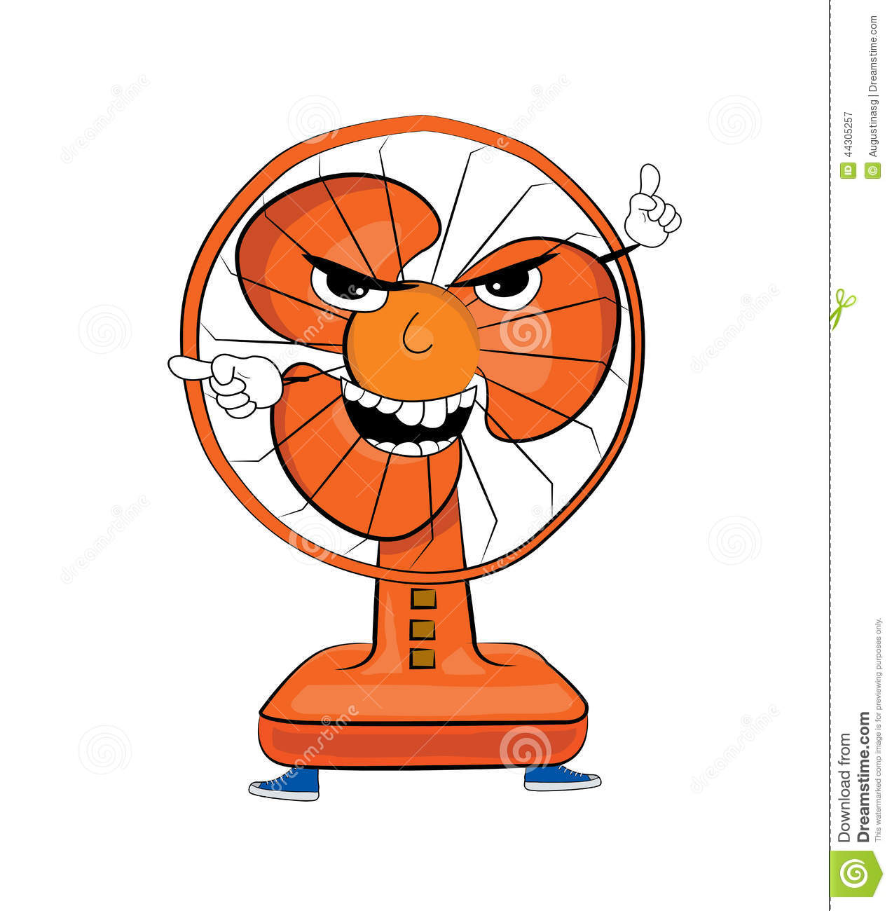 Angry table fan cartoon stock illustration. Image of ...
