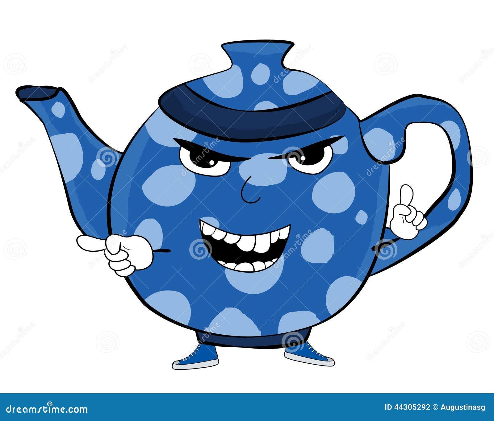 Angry Teapot Cartoon Stock Illustration Illustration Of Fierce