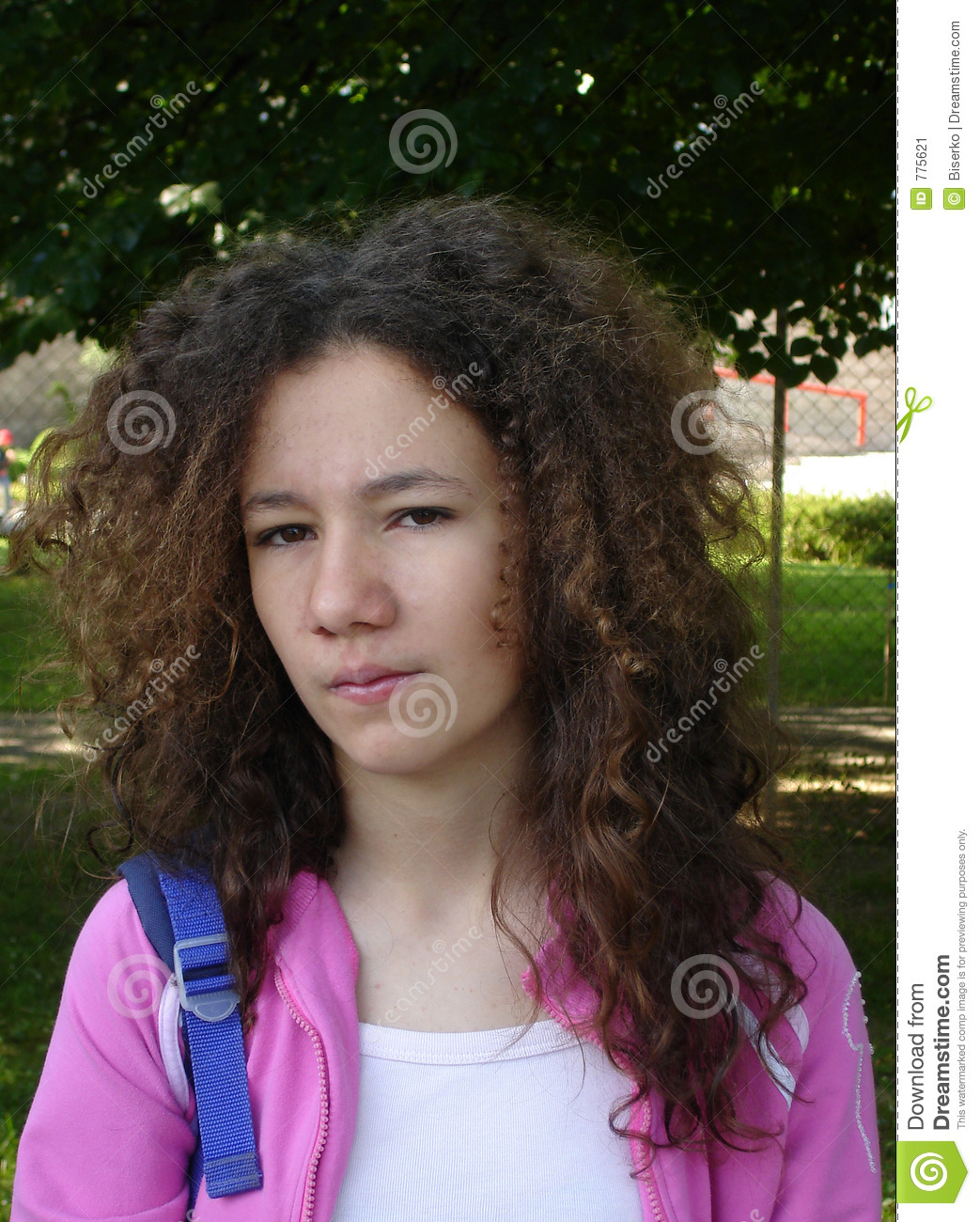 Angry Teen With Curly Hair Stock Image Image 775621