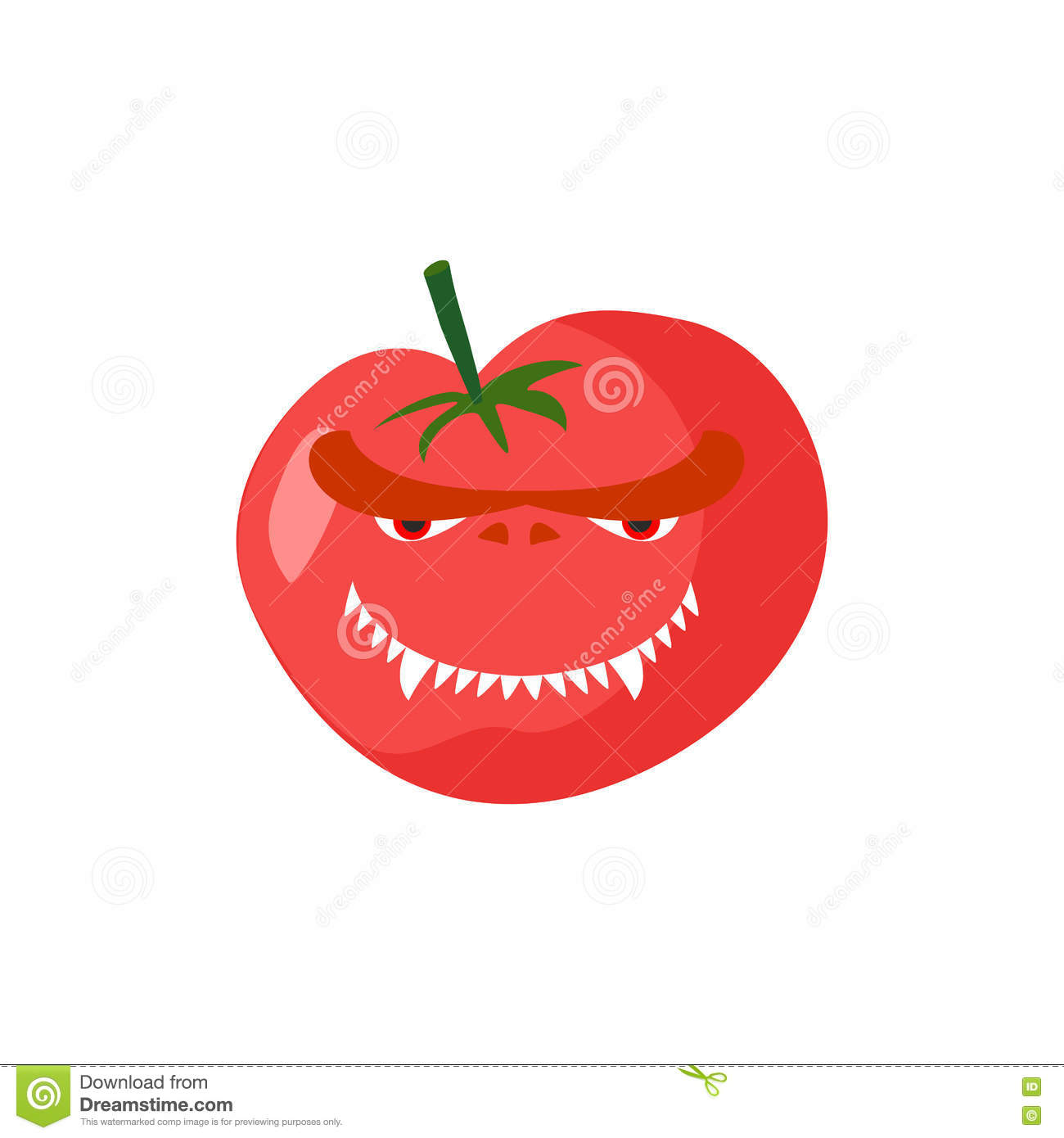 Angry Tomato  Aggressive Red Vegetable  Dangerous Fruit