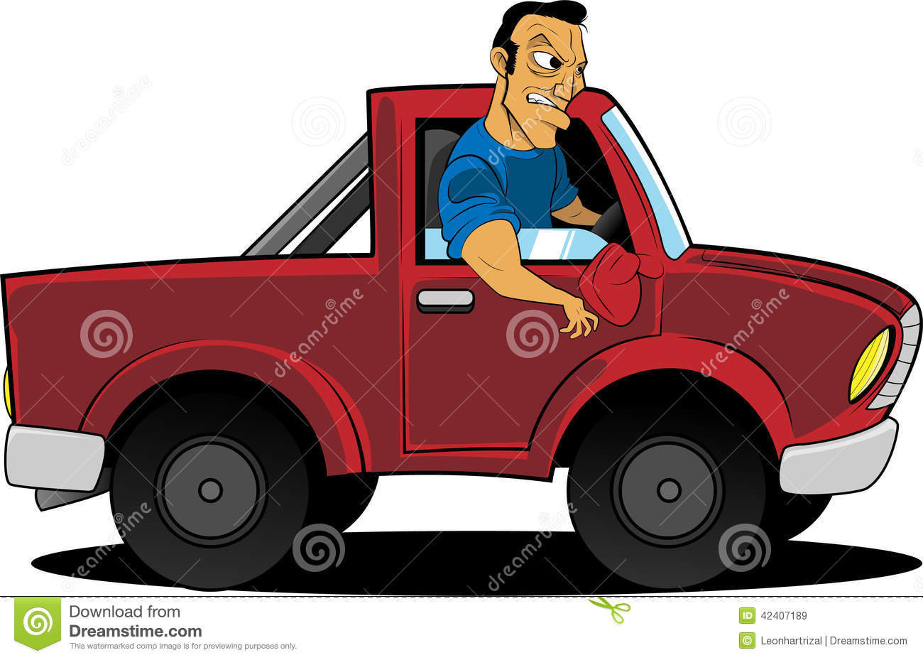 Angry Truck Driver Stock Vector - Image: 42407189