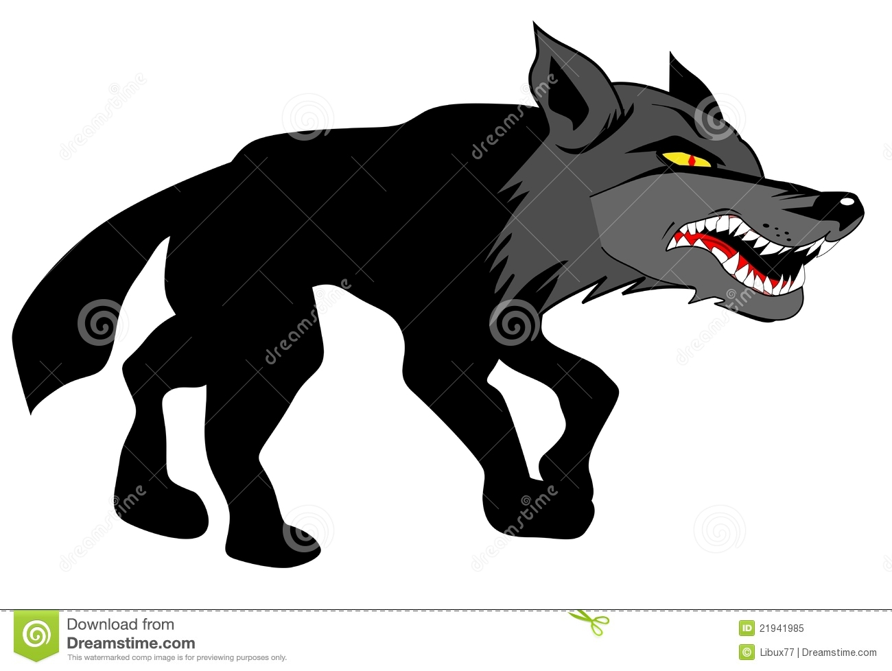 Angry Wolf Approaching Its Prey Royalty Free Stock Photo