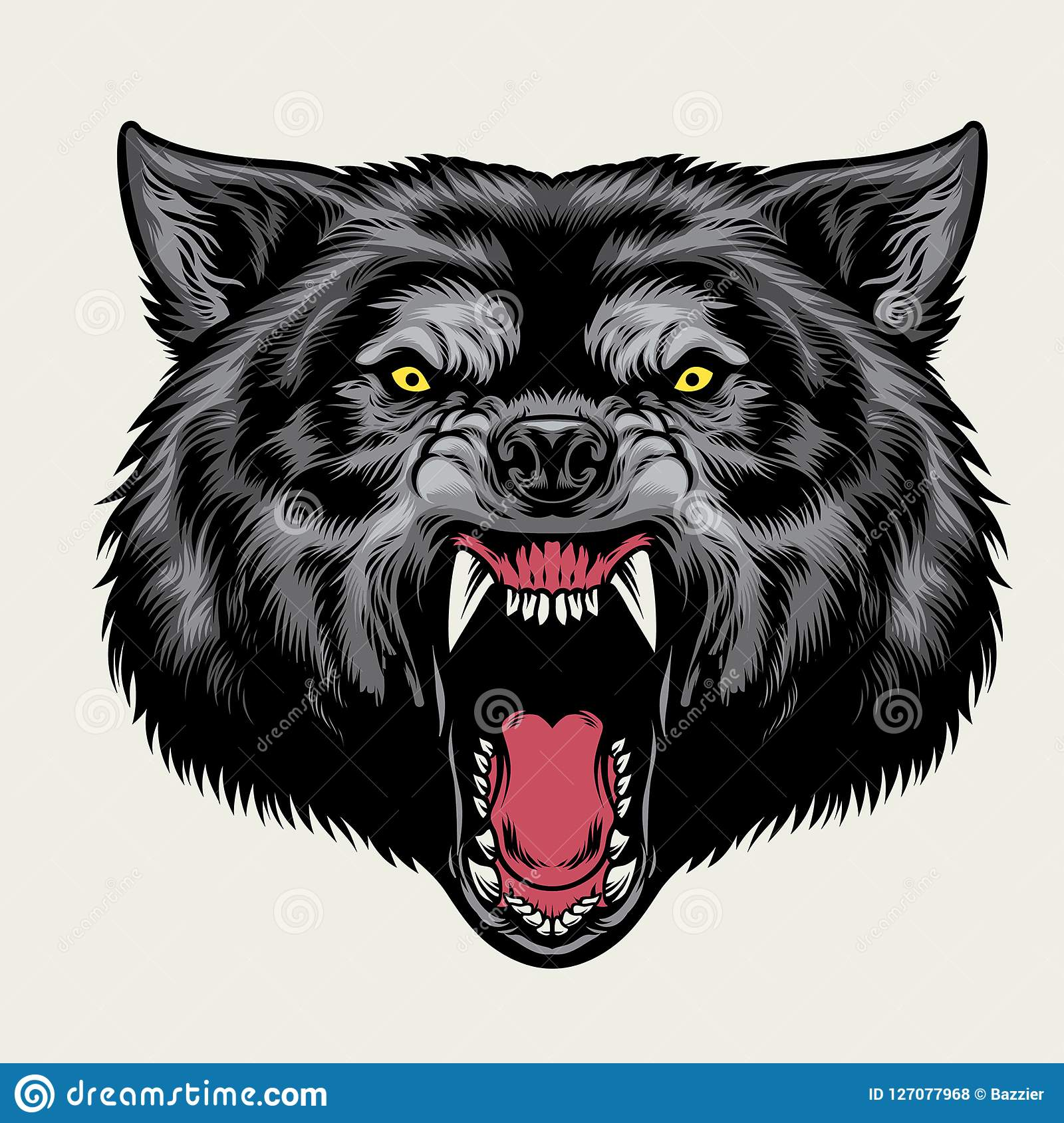 Angry Wolf Stock Illustrations – 1,939 Angry Wolf Stock ...