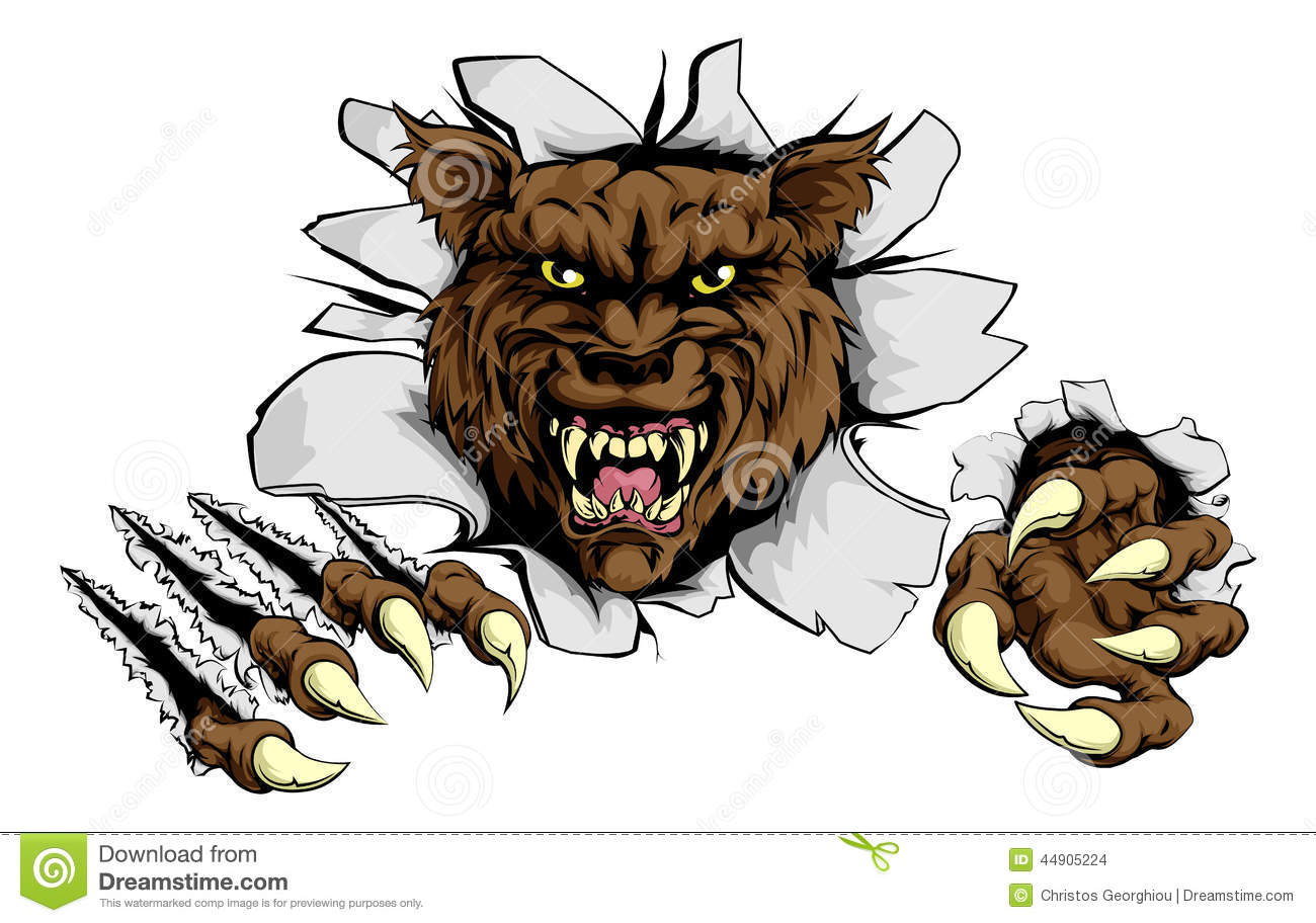 angry wolf sports mascot stock vector image 44905224