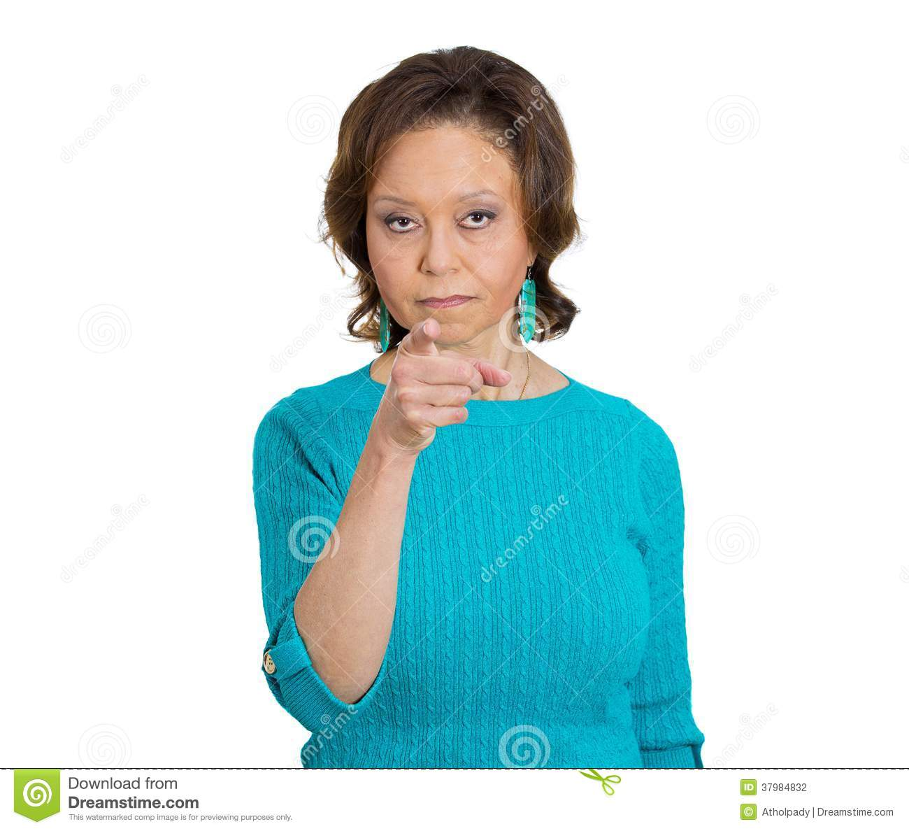 Angry Woman Pointing Stock Photography - Image: 37984832