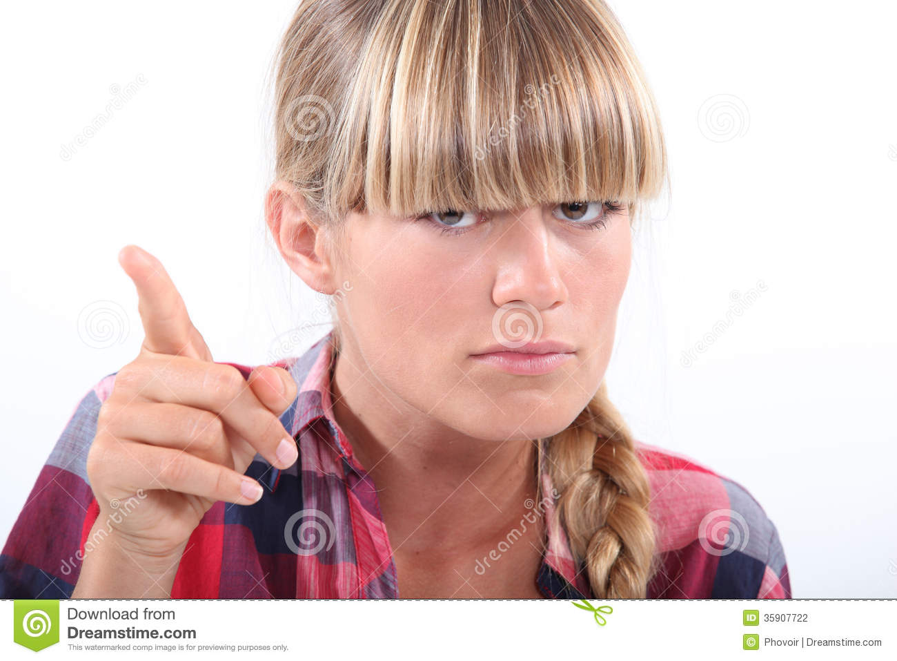 Angry Woman Pointing Finger Stock Photography - Image ...