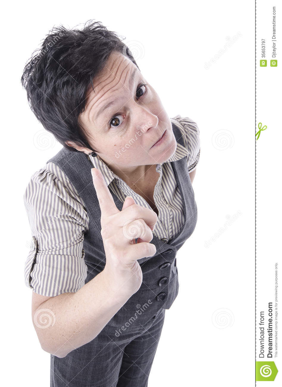 Angry Woman Pointing Finger Royalty Free Stock Photography ...