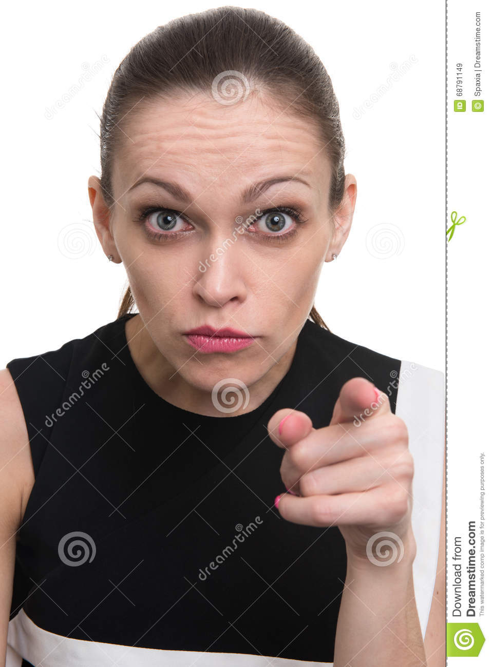 Angry Woman Pointing At You Stock Photo - Image: 68791149