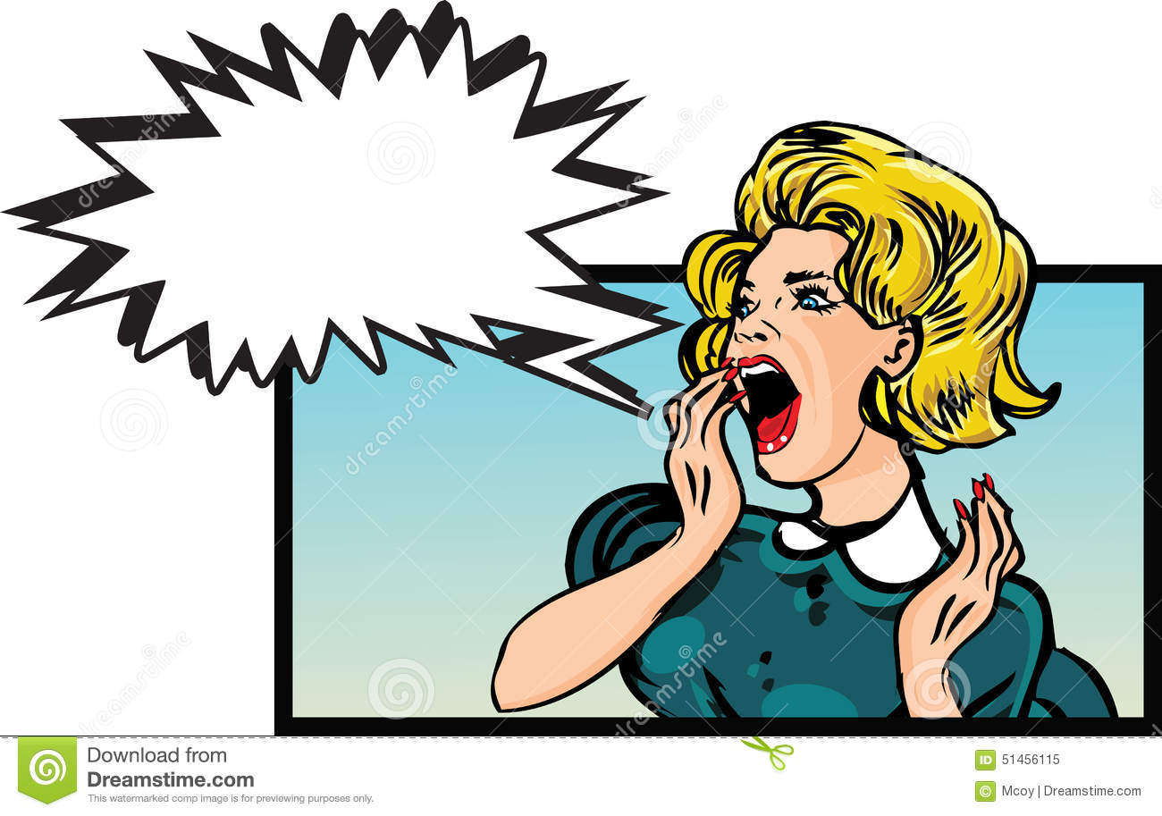Angry woman stock illustration. Image of 1950s, human ...