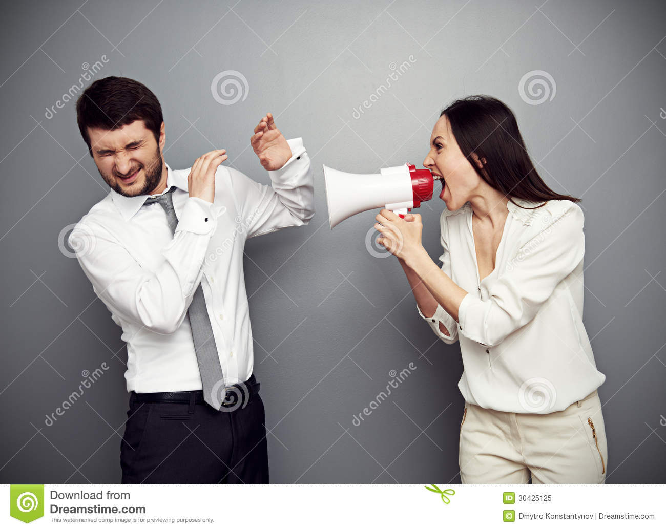 Angry Woman Shouting At The Man Royalty Free Stock Photo ...