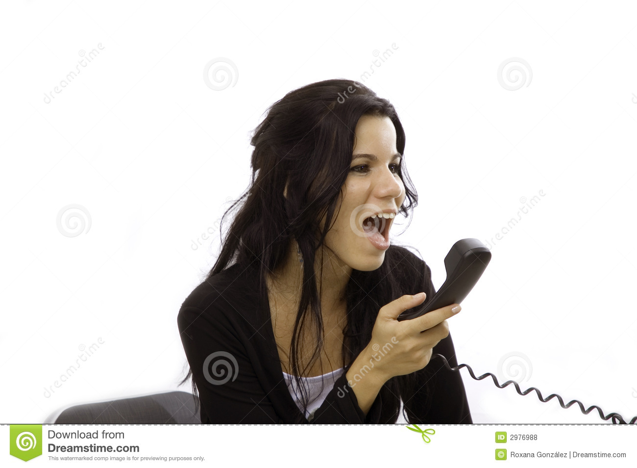 Angry Woman Yelling In Phone Stock Photo - Image: 2976988