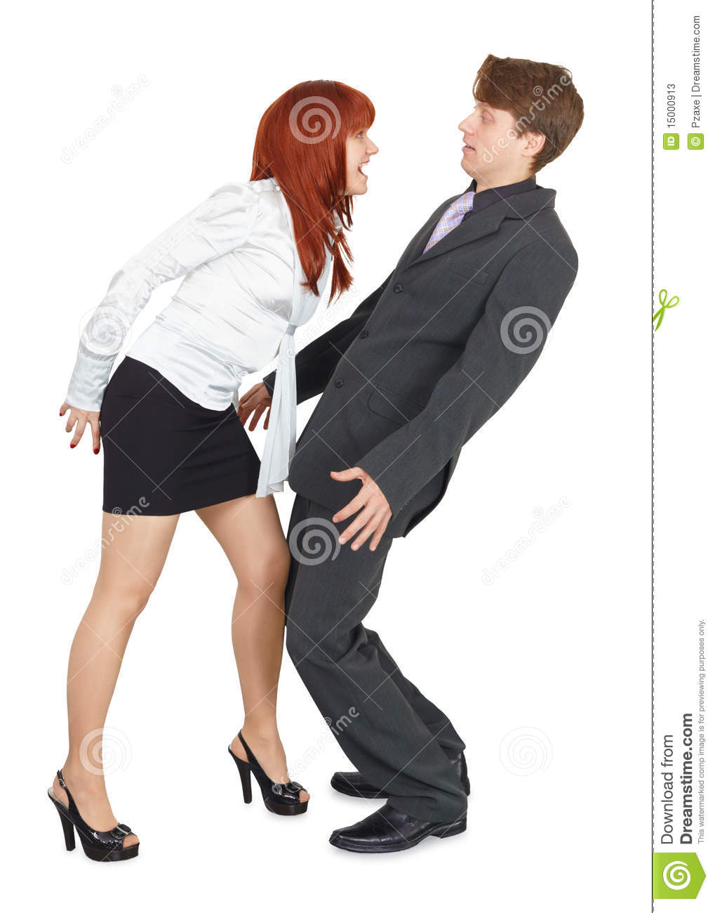 Angry Woman Yelling At Young Man Stock Photos - Image ...