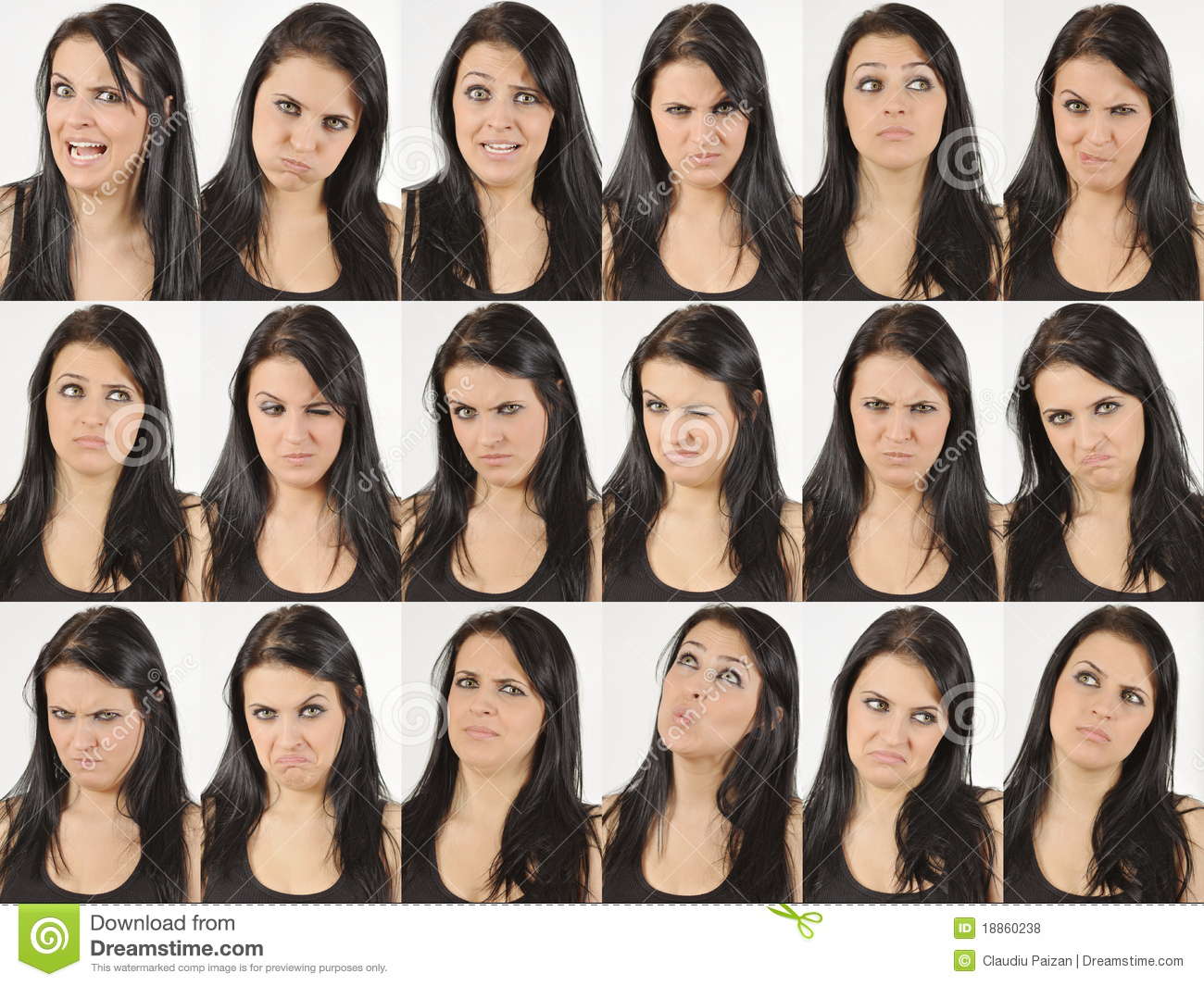 angry and wondering faces stock photo image of caucasian 18860238