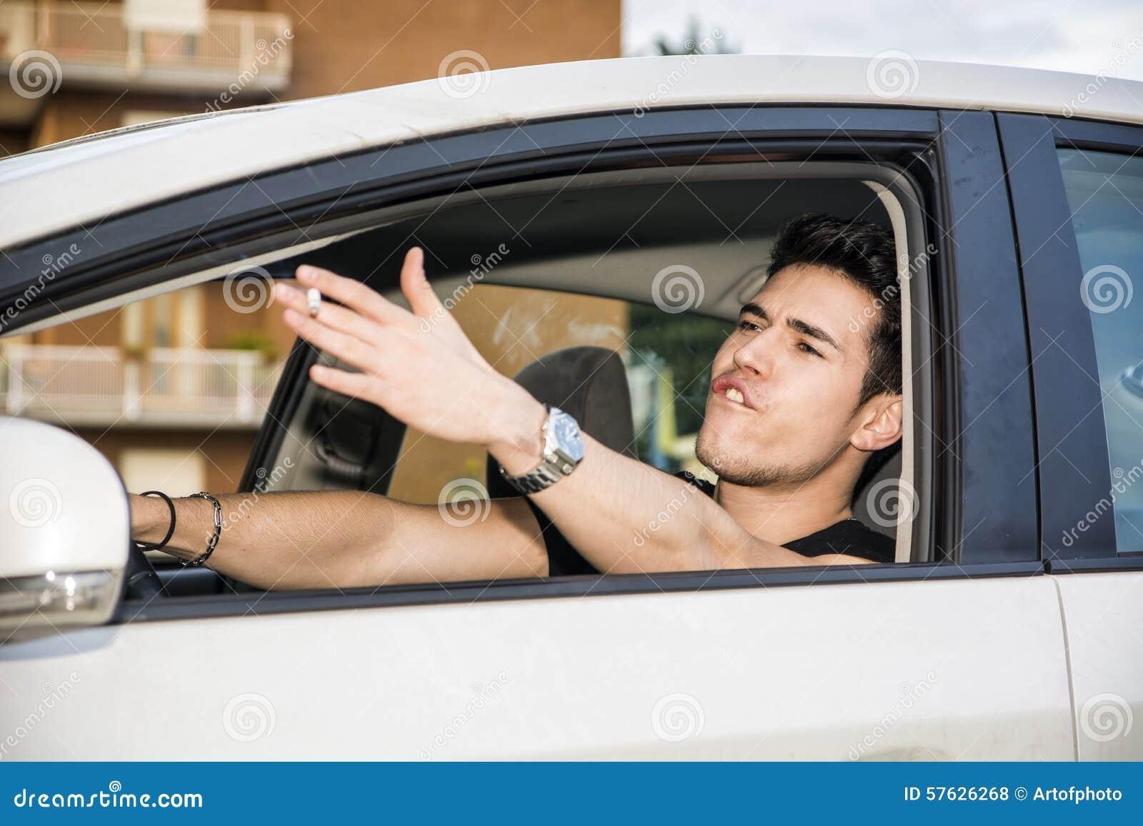 Woman Driving Car Screaming