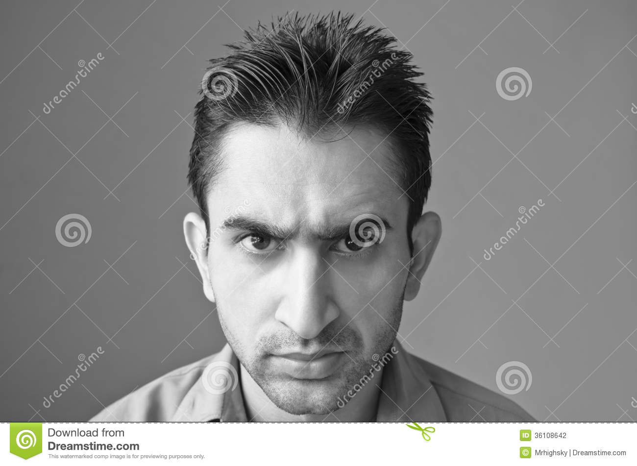 Angry Young Man Portrait Stock Photo Image Of South