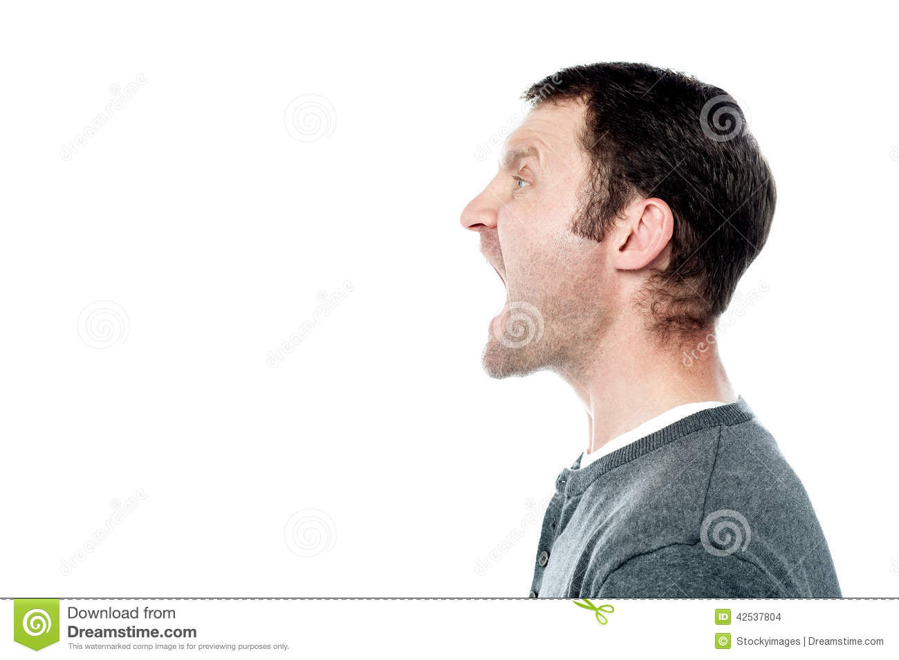 Angry young man screaming stock photo. Image of expression ...