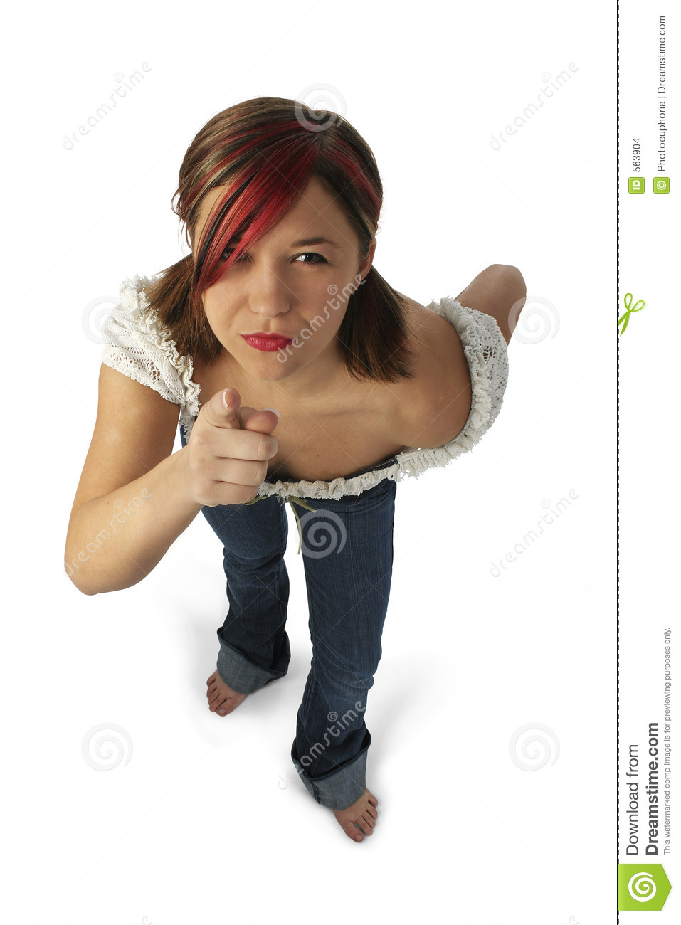 Angry Young Woman Pointing Towards Camera Stock Images ...
