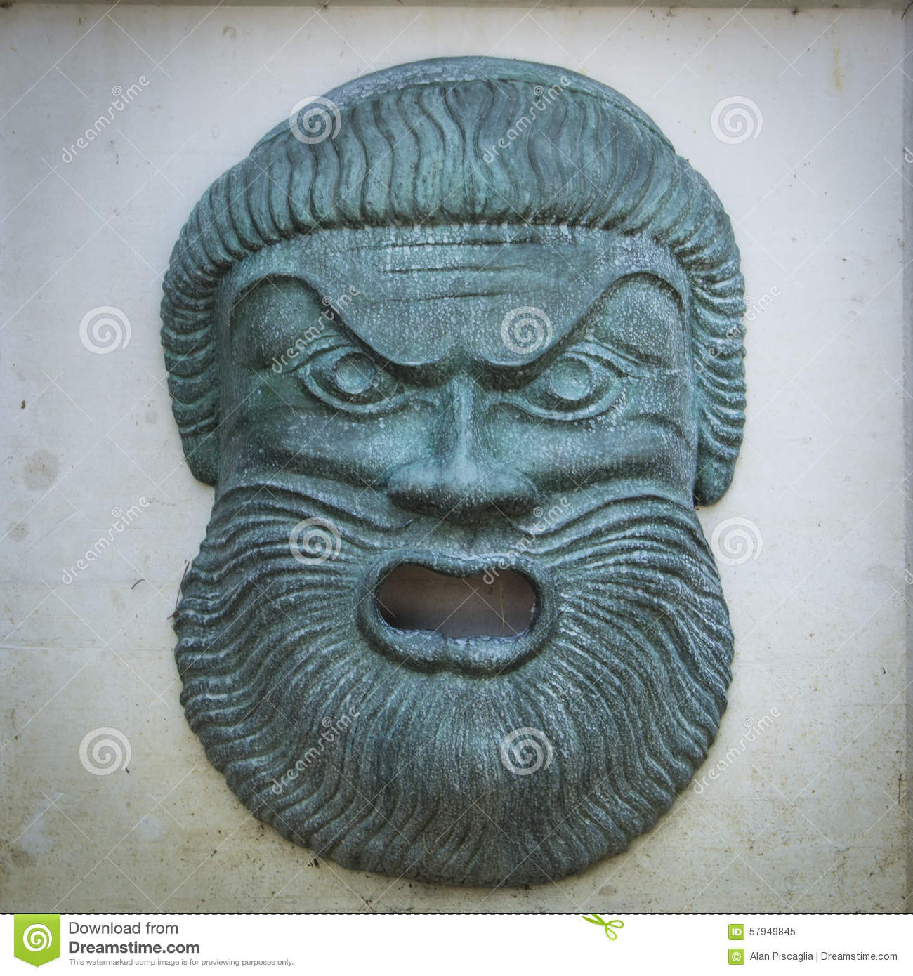 Angry Zeus Statue Face Stock Photo - Image: 57949845