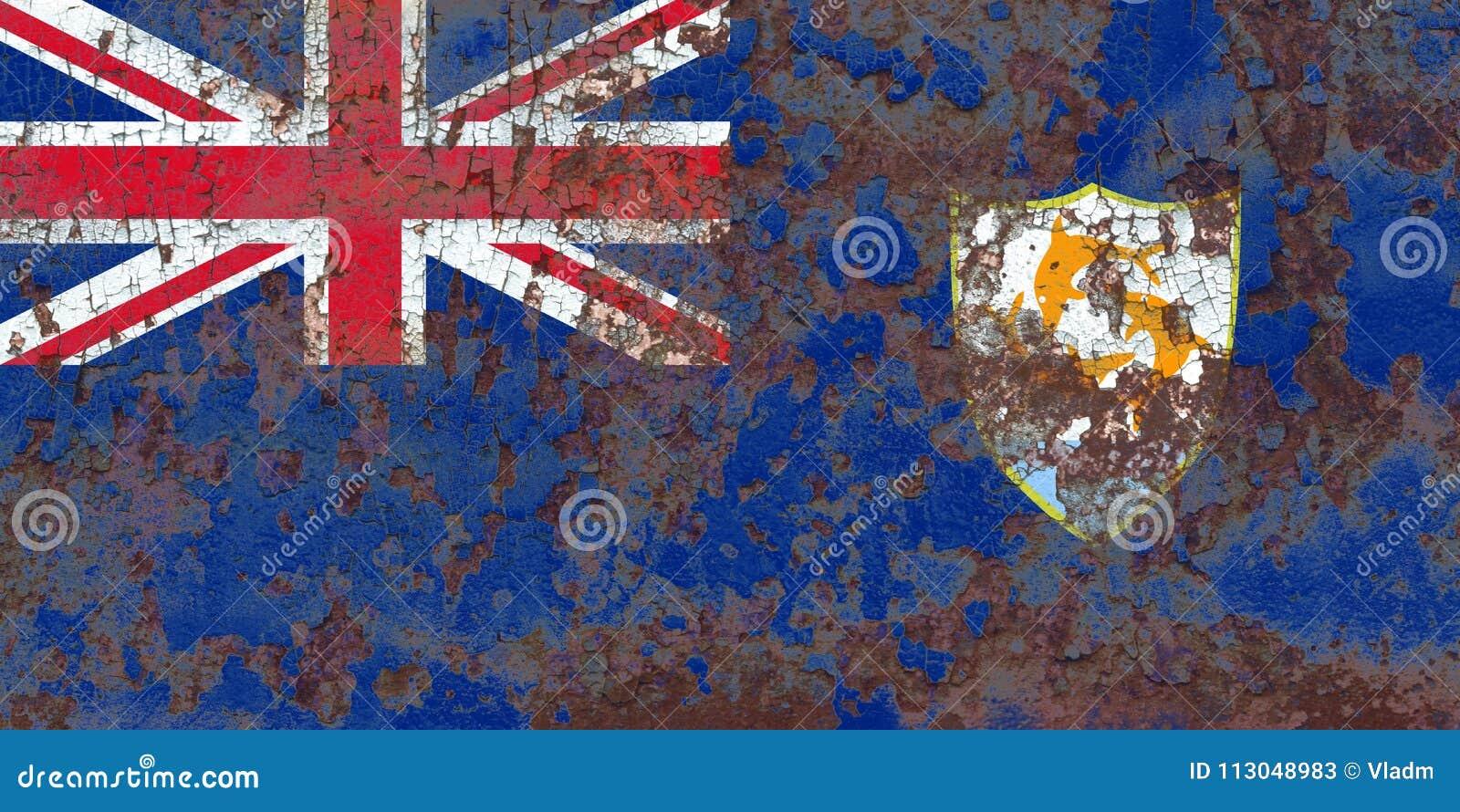 Anguilla grungeflagga, depe för brittiska utländska territorier, Britannien