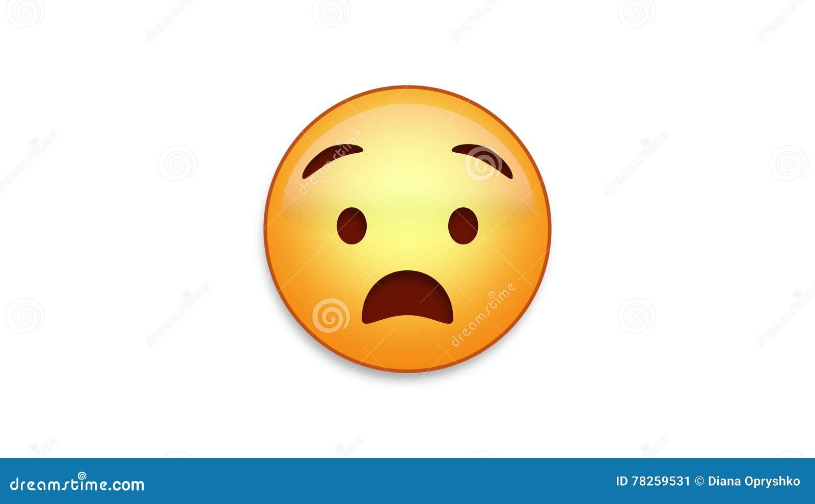 Anguished Emoji με τη μεταλλίνη Luma