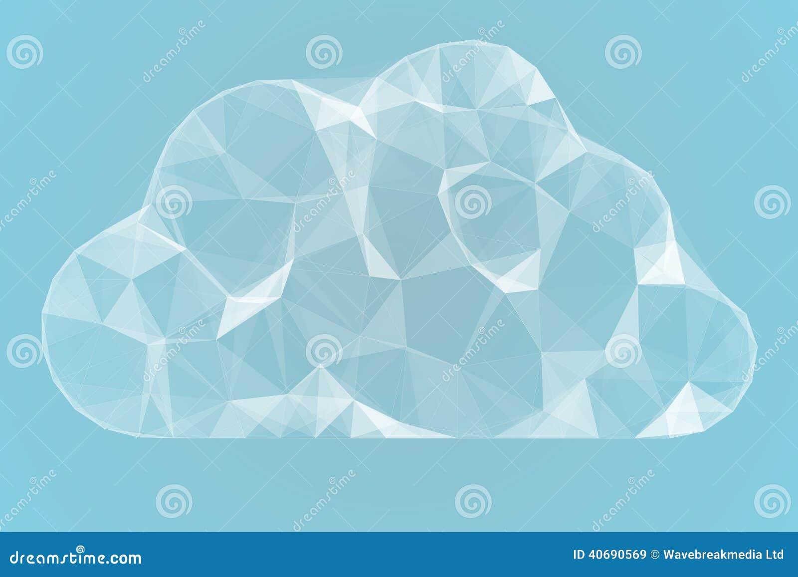 Angular Cloud Design In White Stock Illustration - Image ...