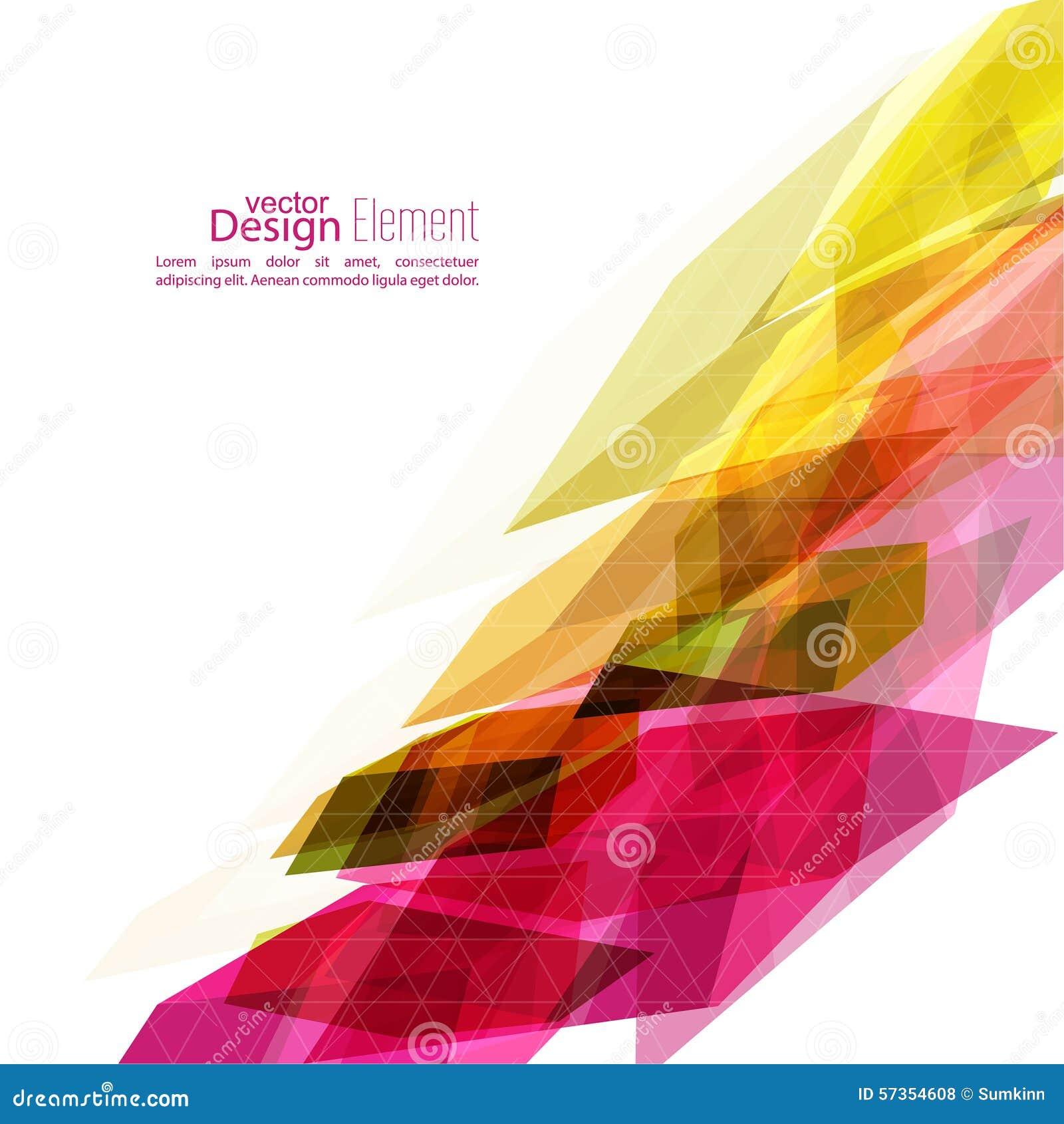 angular geometric color shape stock vector