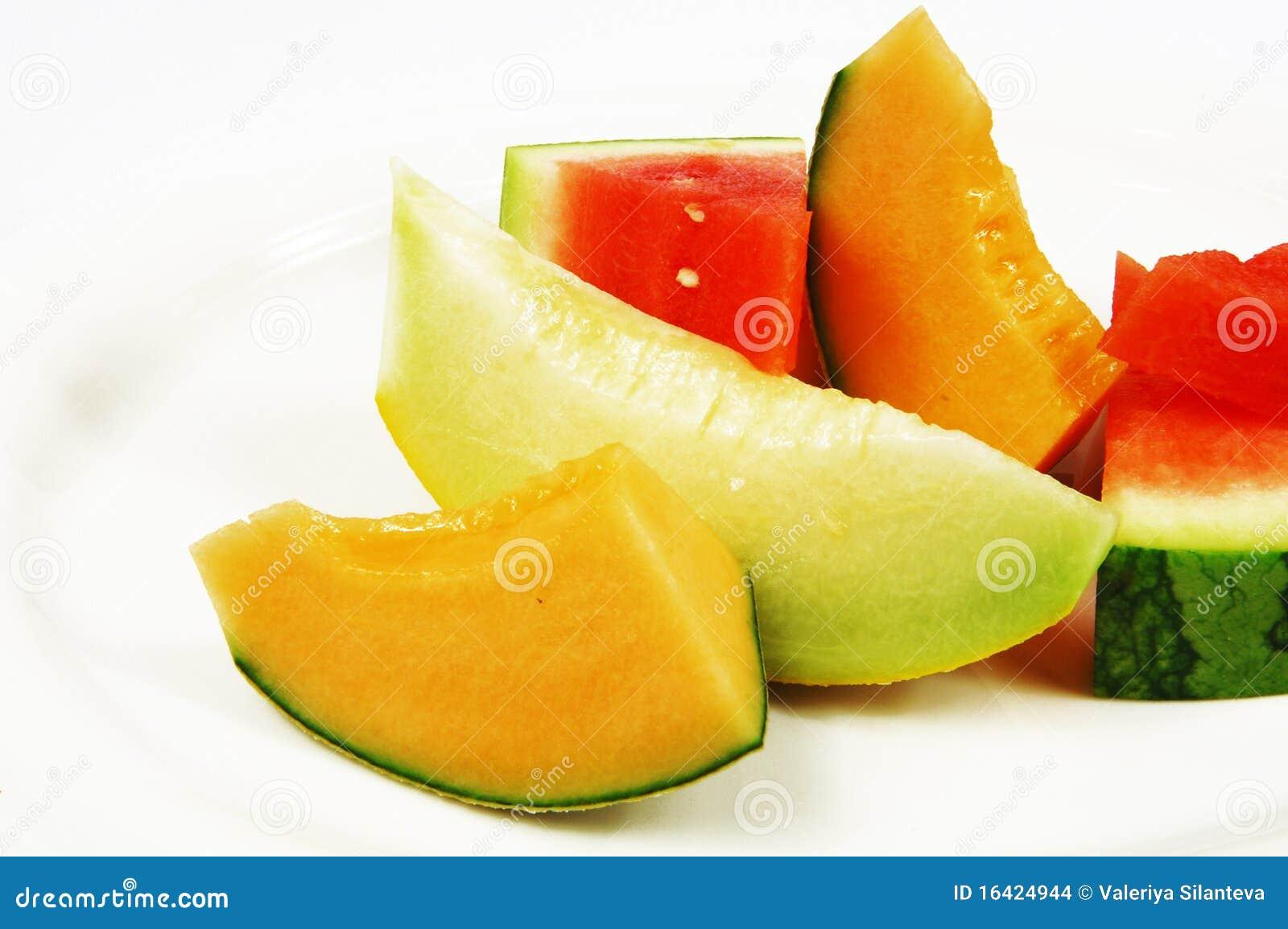 Anguria E Melone Immagini Stock