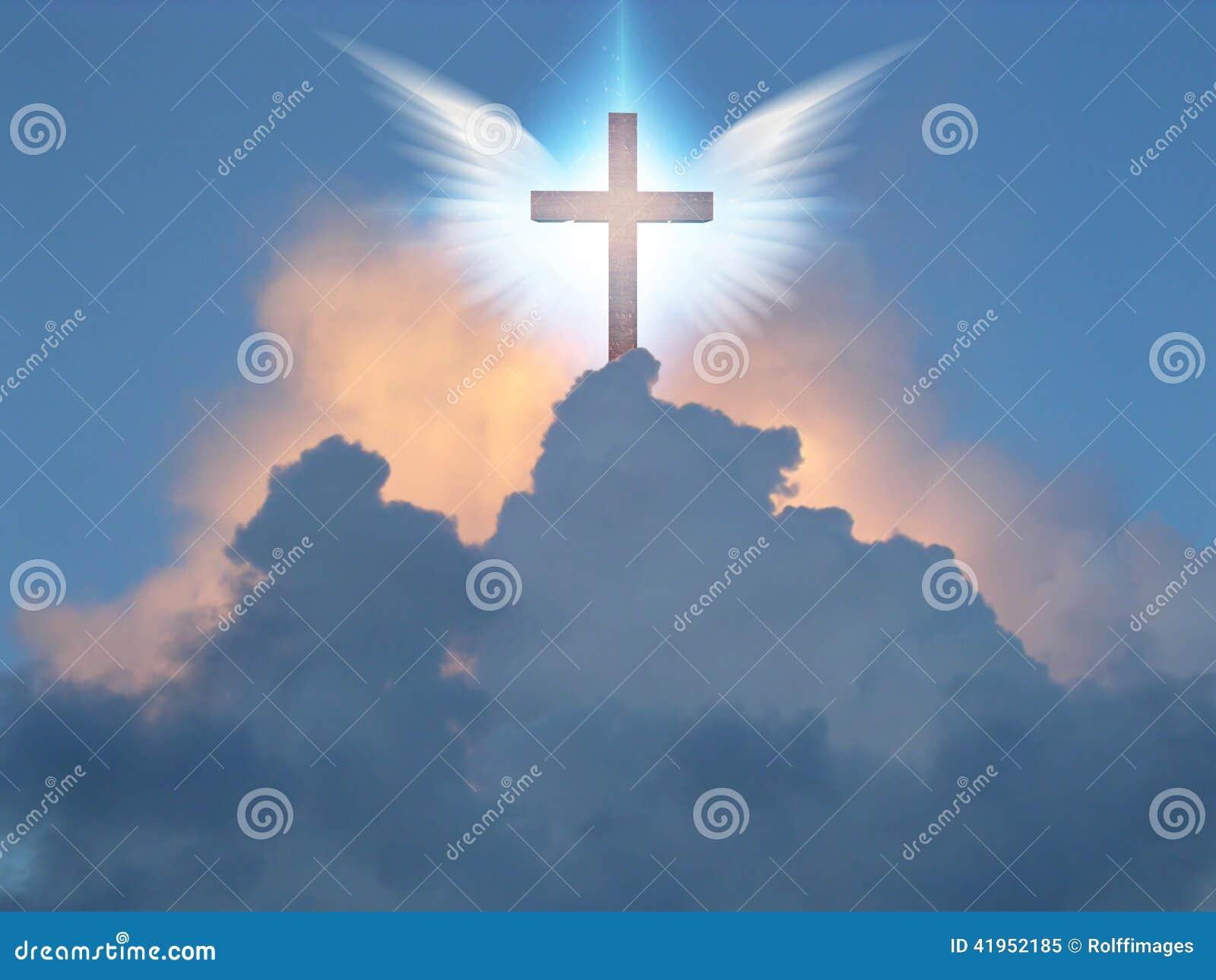 Anielski skrzydło krzyż