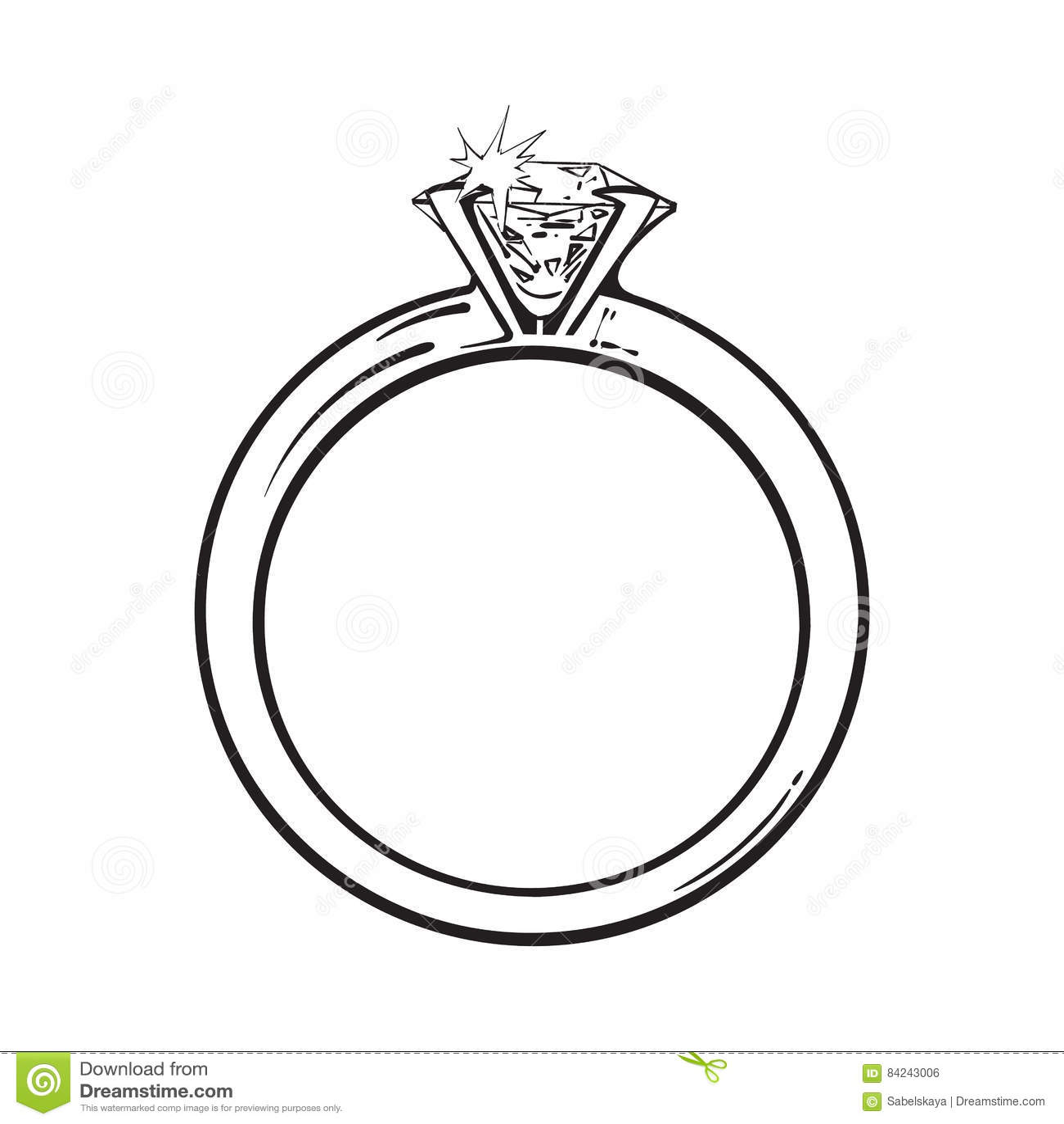 Anillo De Compromiso De Oro Con Un Diamante Brillante Grande