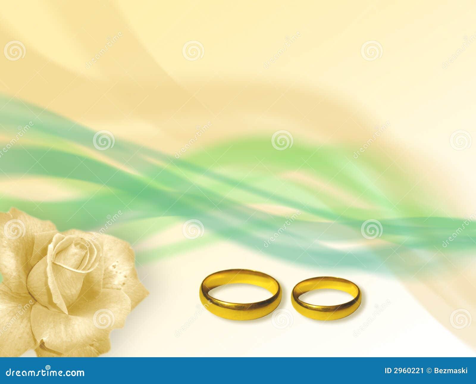 Anillos verdes de la boda