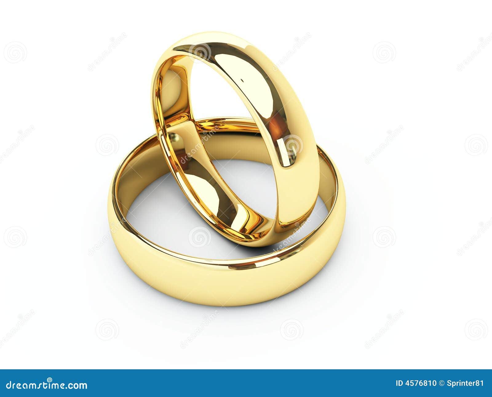 Anillos de bodas del oro