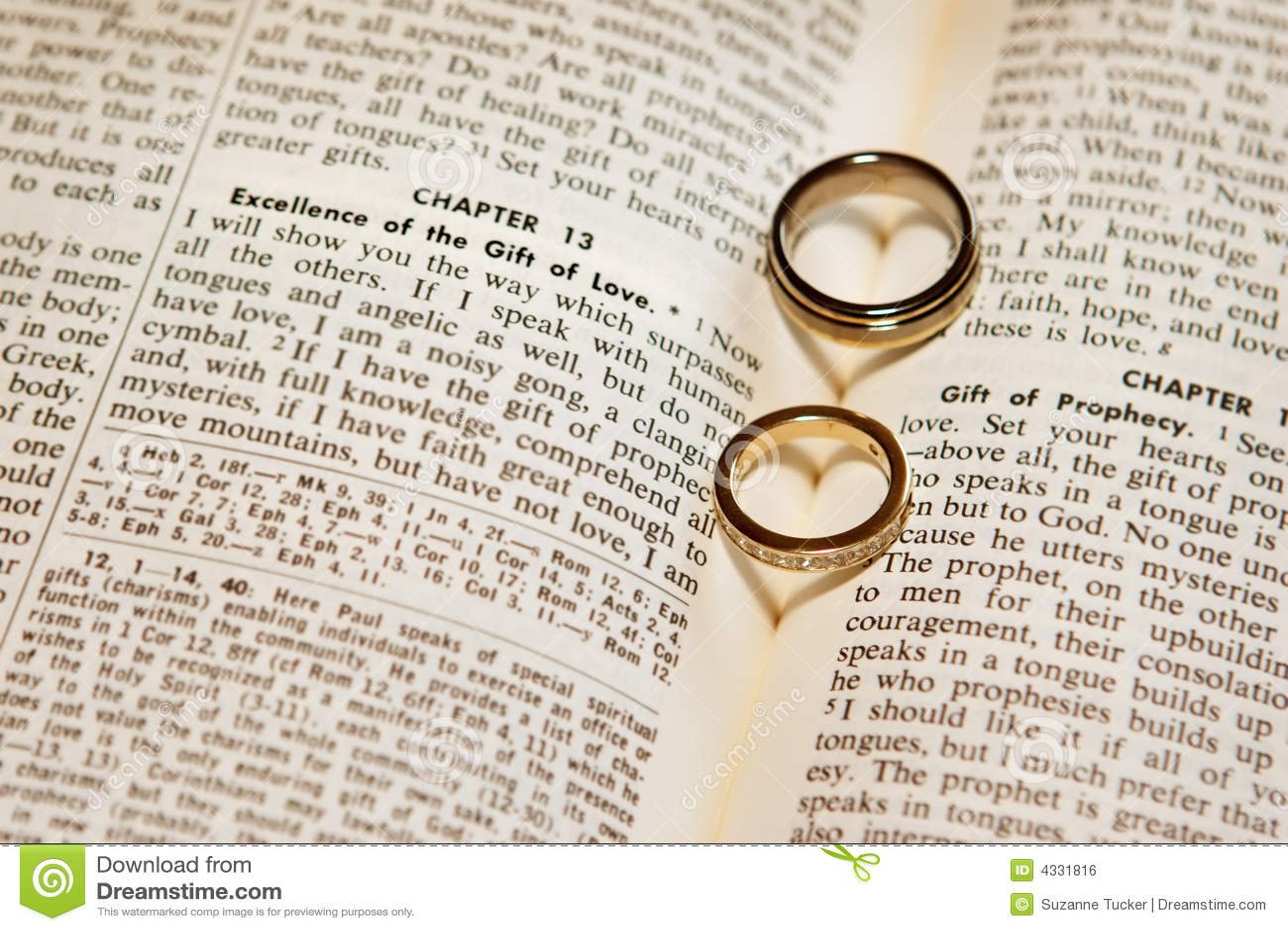Matrimonio En La Biblia Cristiana : Anillos de bodas en una biblia foto archivo imagen