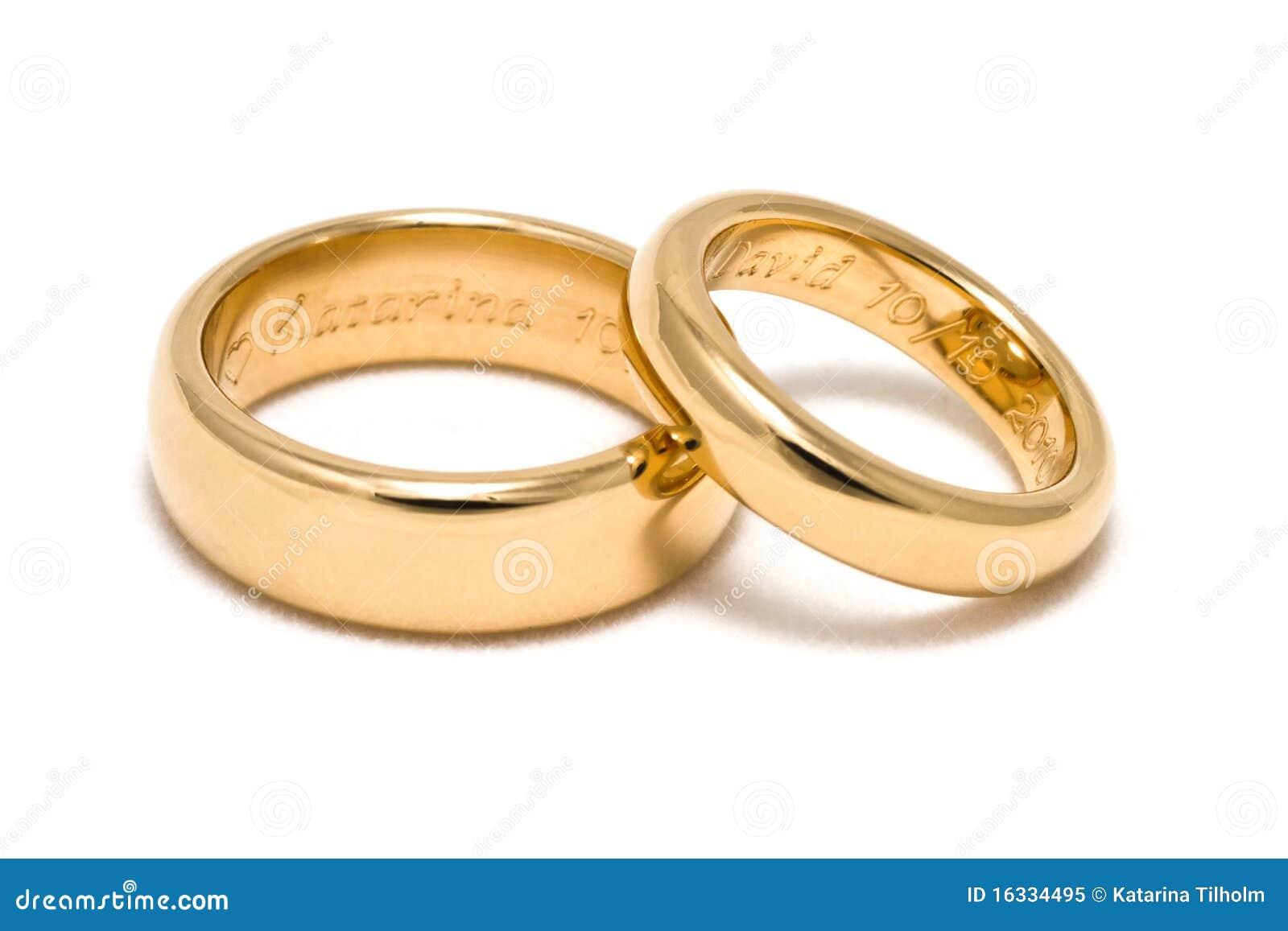 Anillo de bodas de grabado