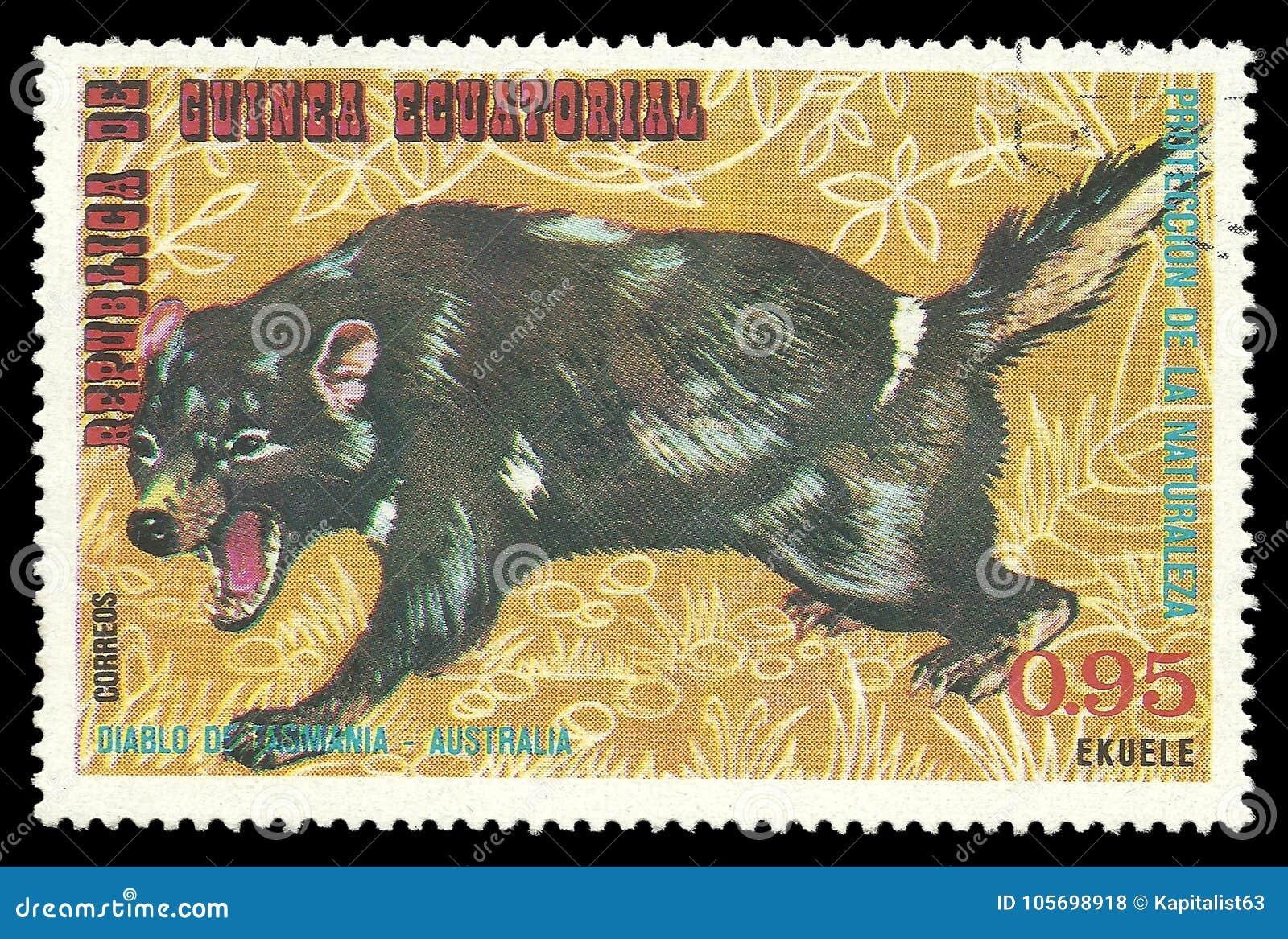 Animais australianos, diabo tasmaniano