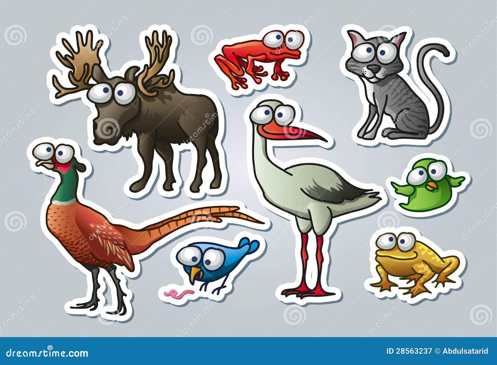 Zoológico De Animais Bebê Dos Desenhos Animados Vetor: Animais Dos Desenhos Animados Ilustração Do Vetor