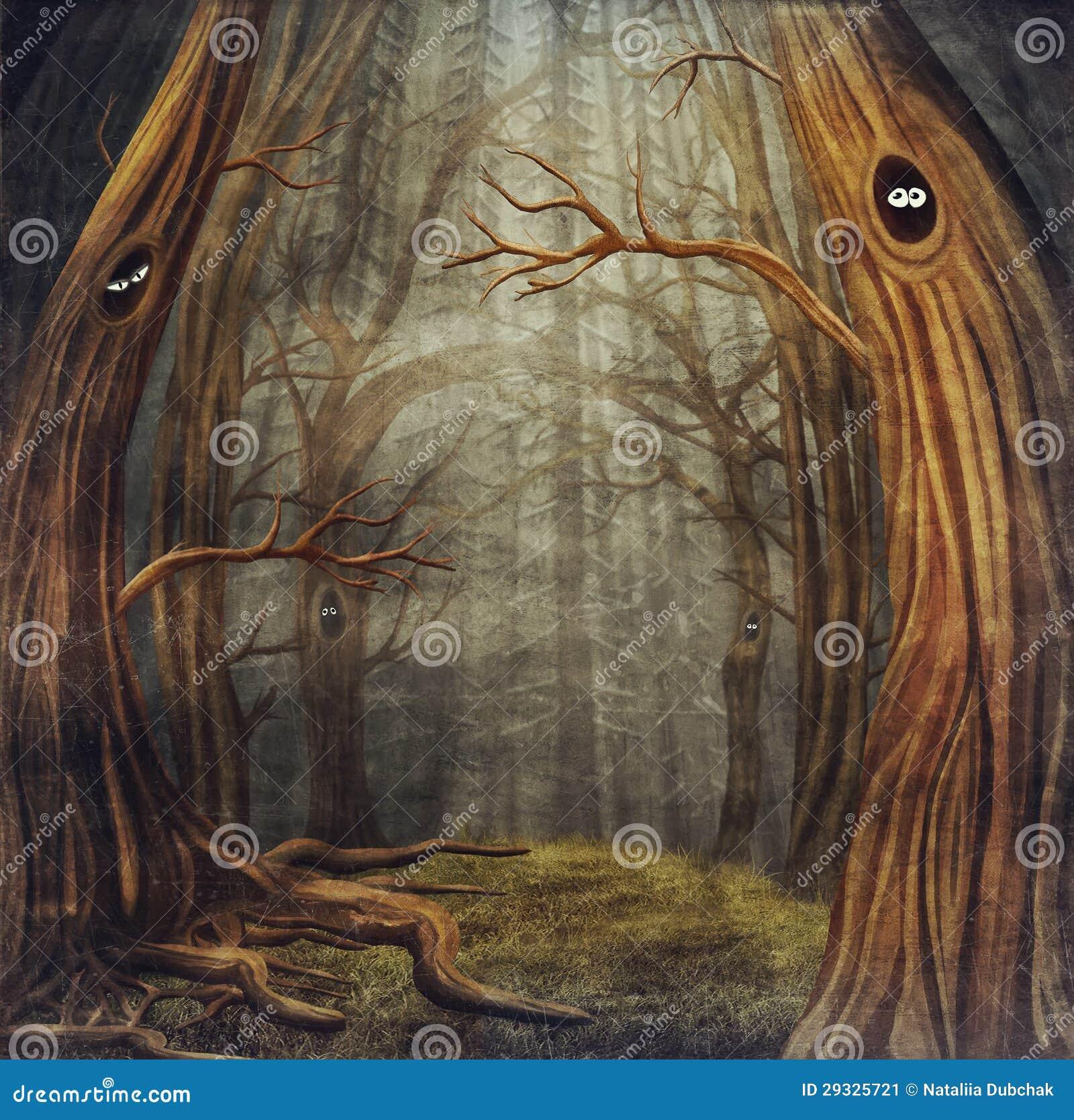 Animais na floresta