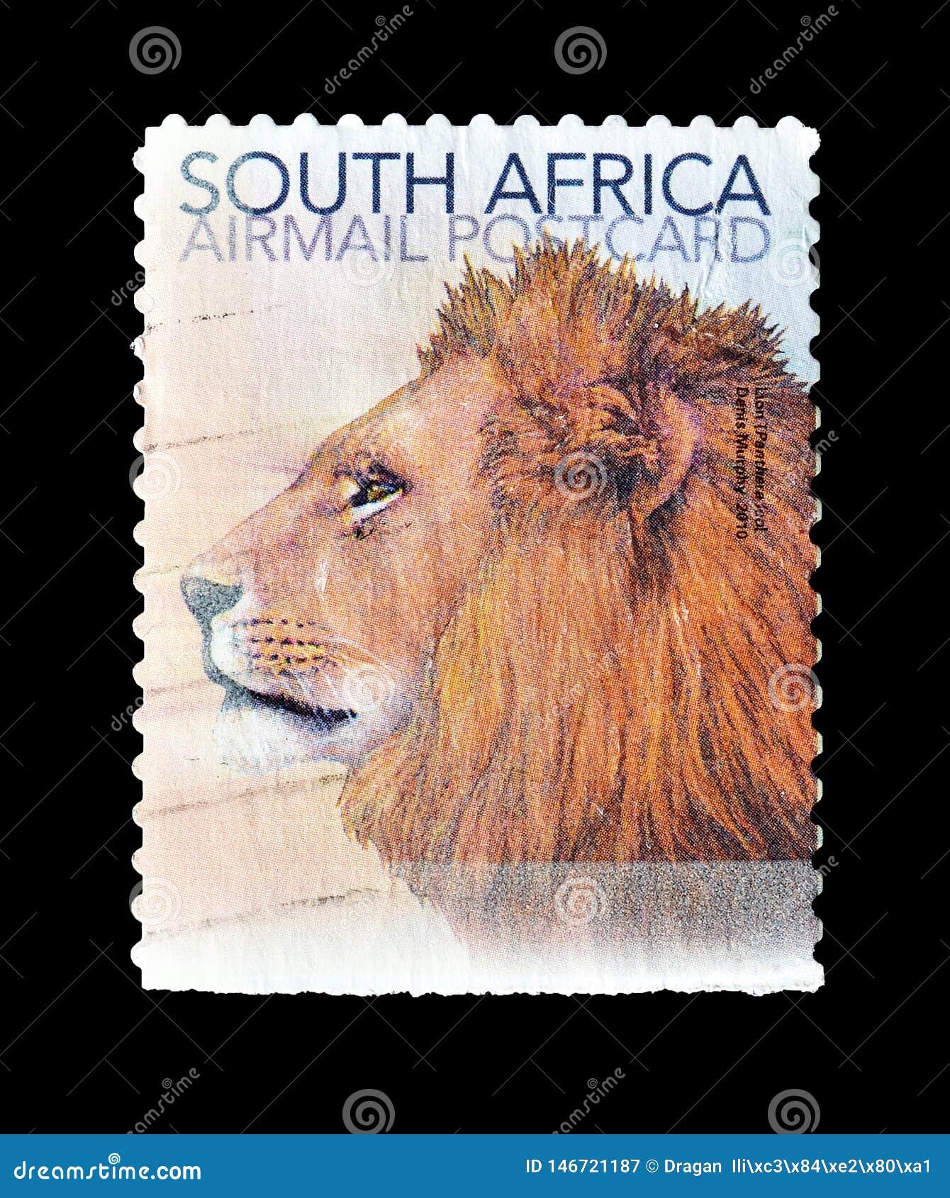 Animais selvagens em selos postais