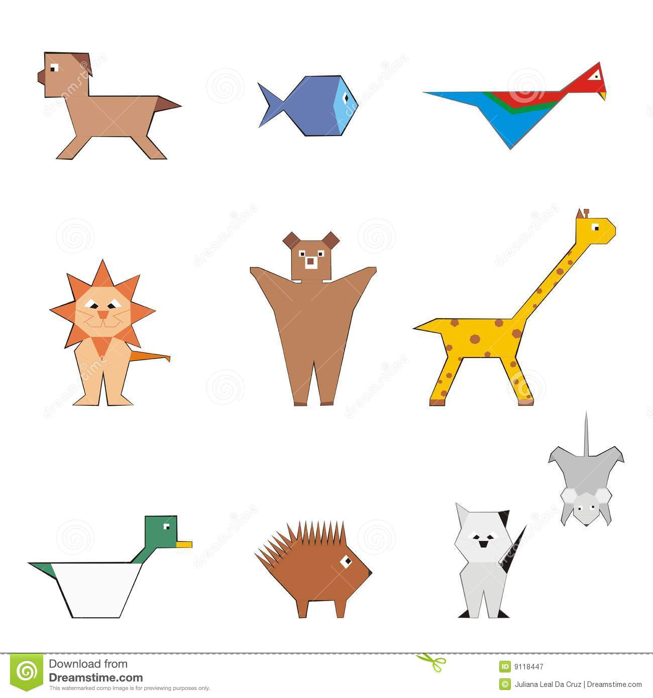 Brown Glass Animal Shapes